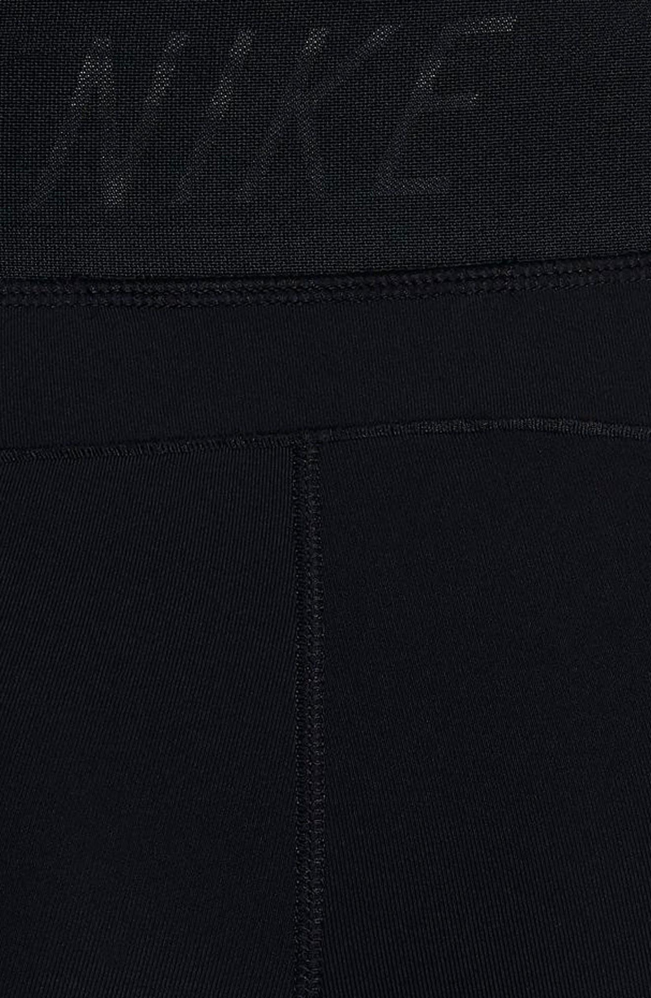 Fly Lux Crop Leggings,                             Alternate thumbnail 6, color,                             Black/ Clear