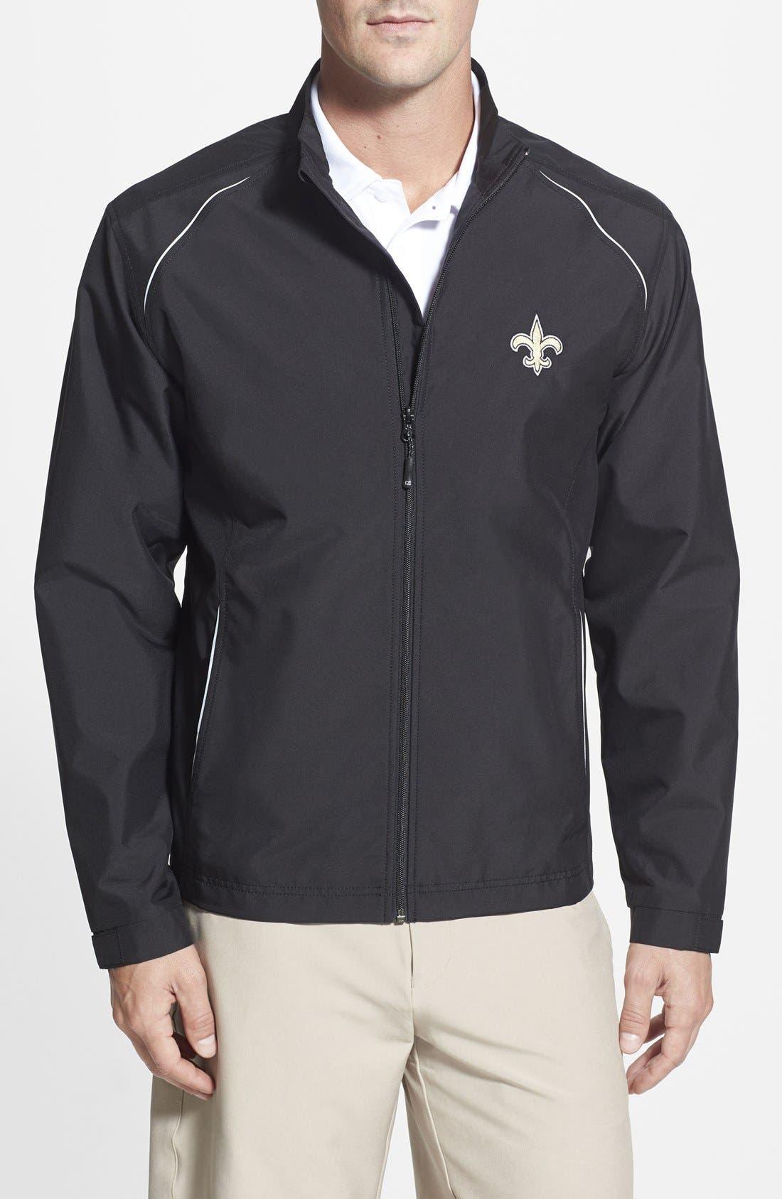 New Orleans Saints - Beacon WeatherTec Wind & Water Resistant Jacket,                         Main,                         color, Black