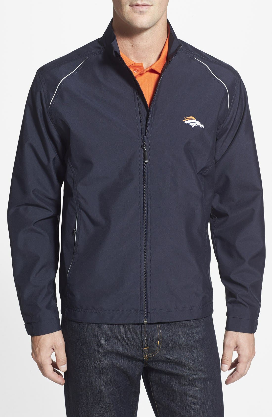 Cutter & Buck 'Denver Broncos - Beacon' WeatherTec Wind & Water Resistant Jacket (Big & Tall)