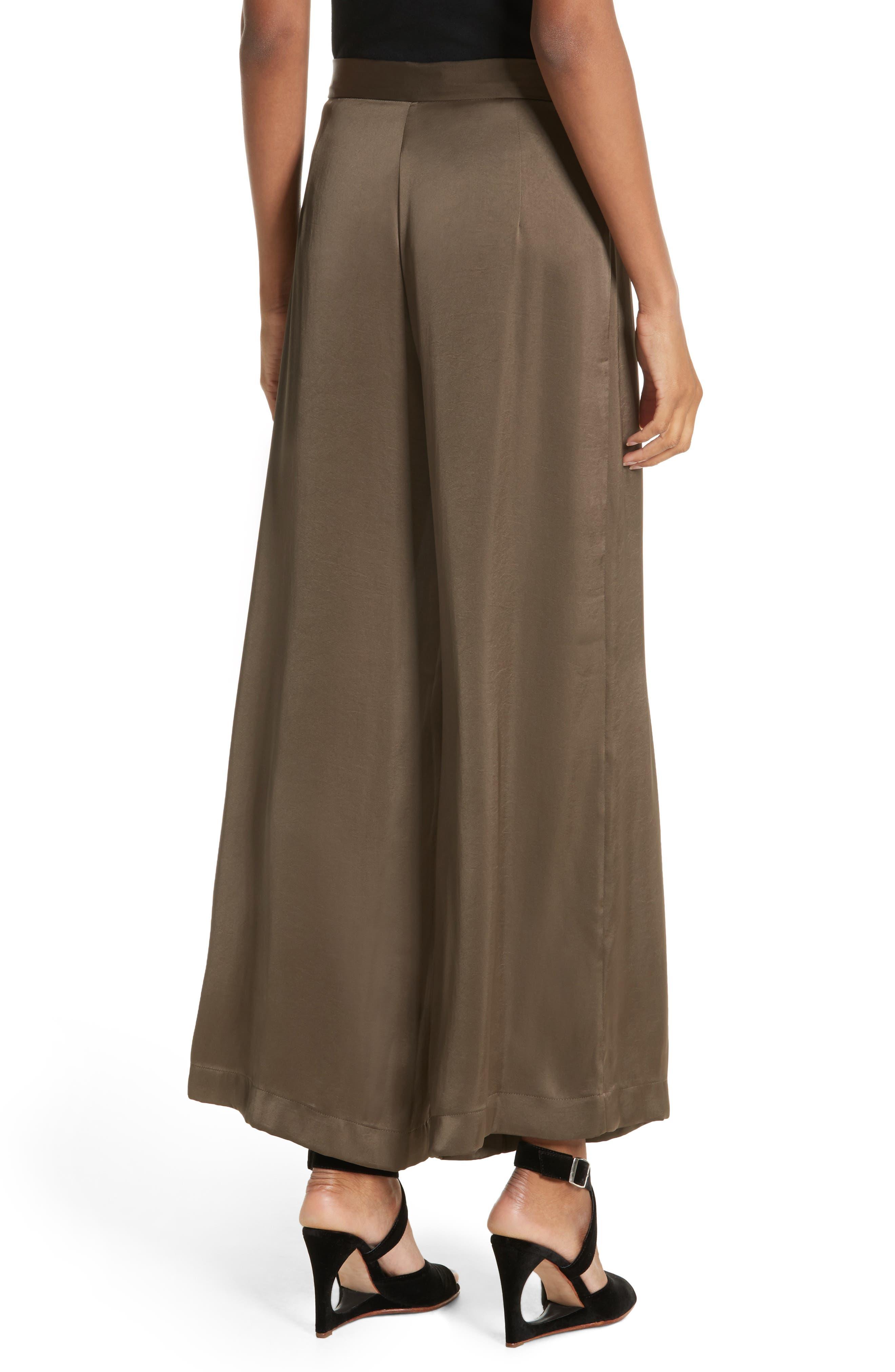 Alternate Image 2  - Rachel Comey Cleric Satin Wide Leg Pants