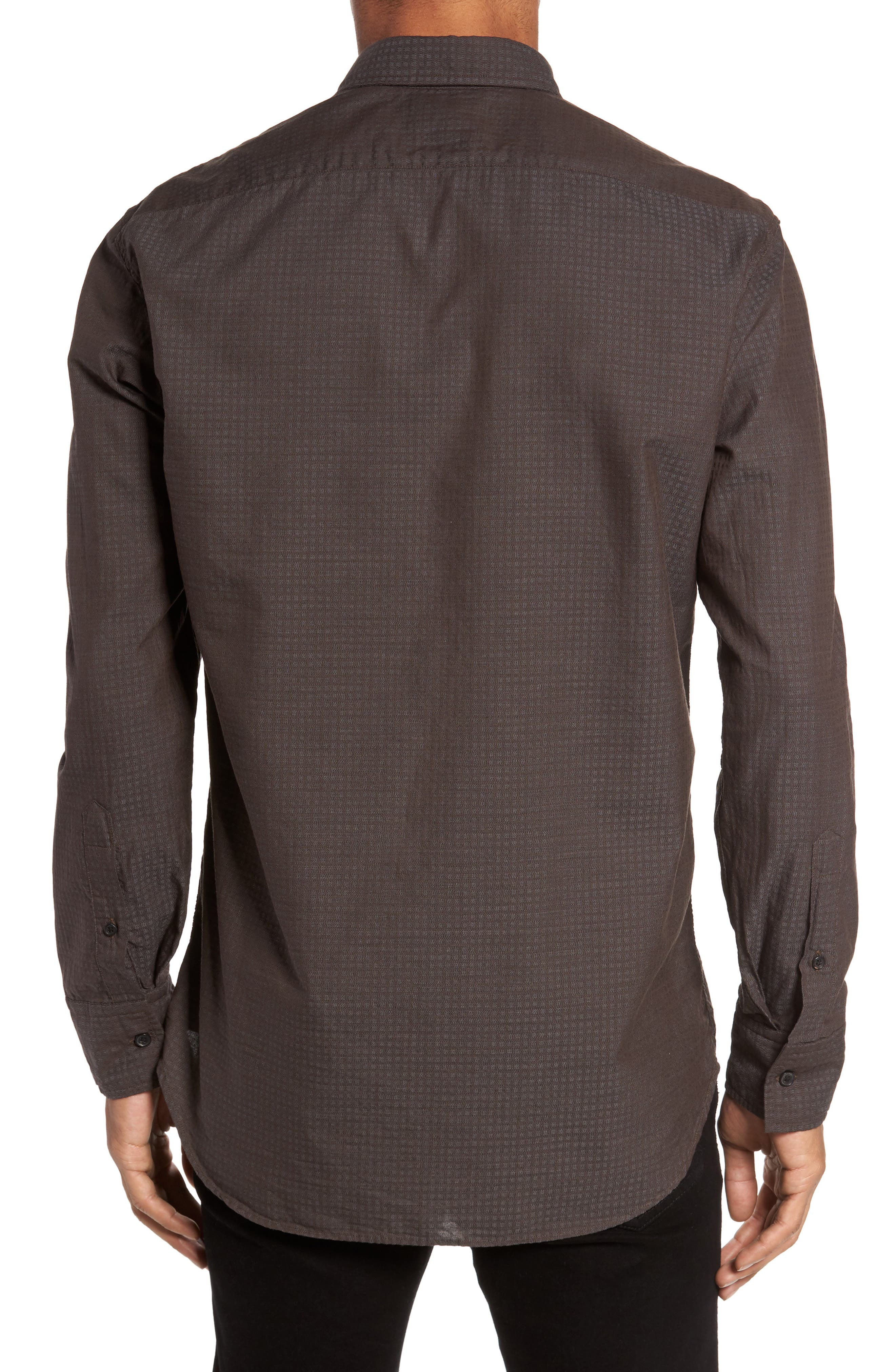 Wallace Slim Fit Sport Shirt,                             Alternate thumbnail 2, color,                             Brown