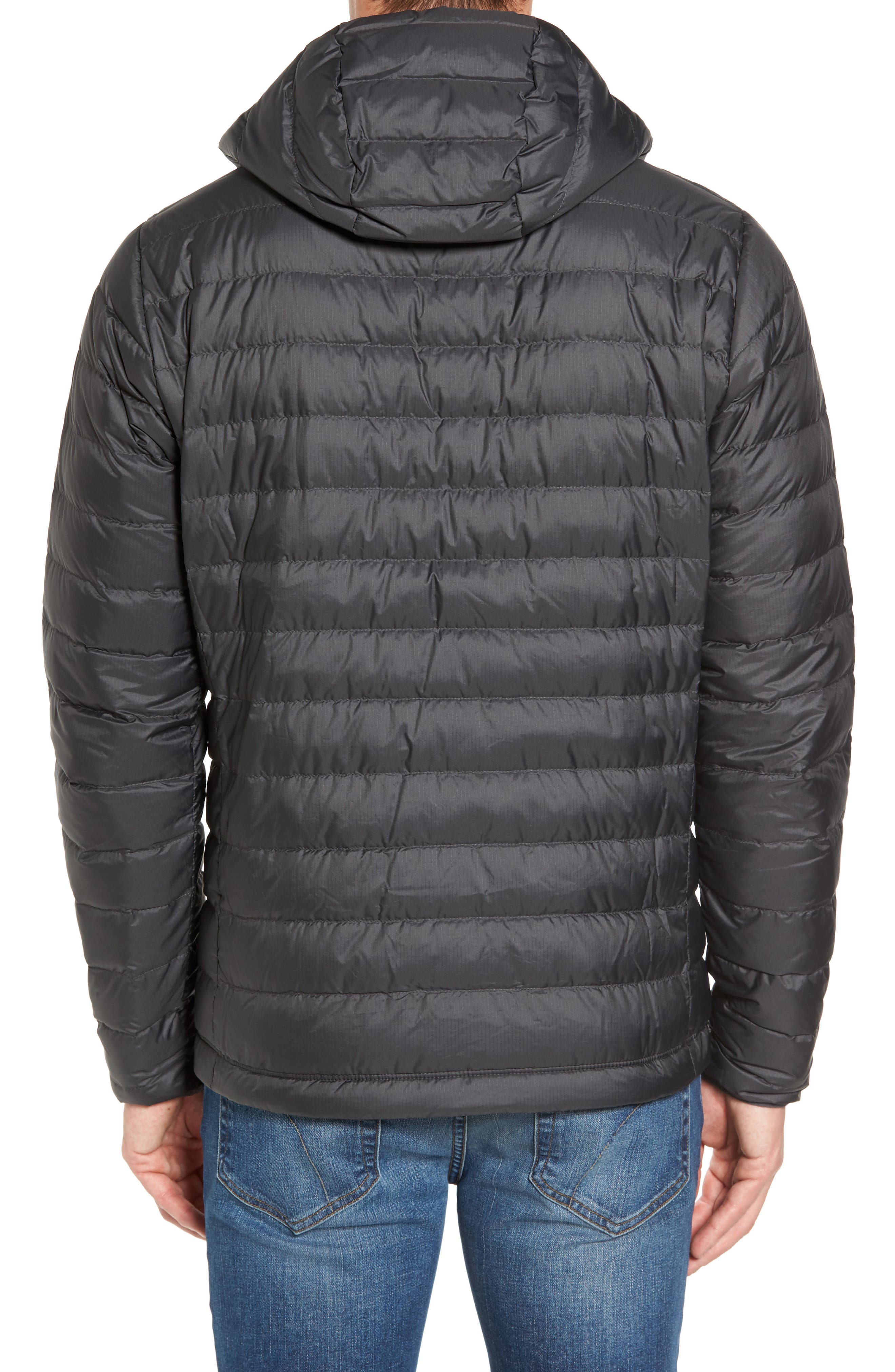Packable Windproof & Water Resistant Goose Down Sweater Hooded Jacket,                             Alternate thumbnail 2, color,                             Forge Grey