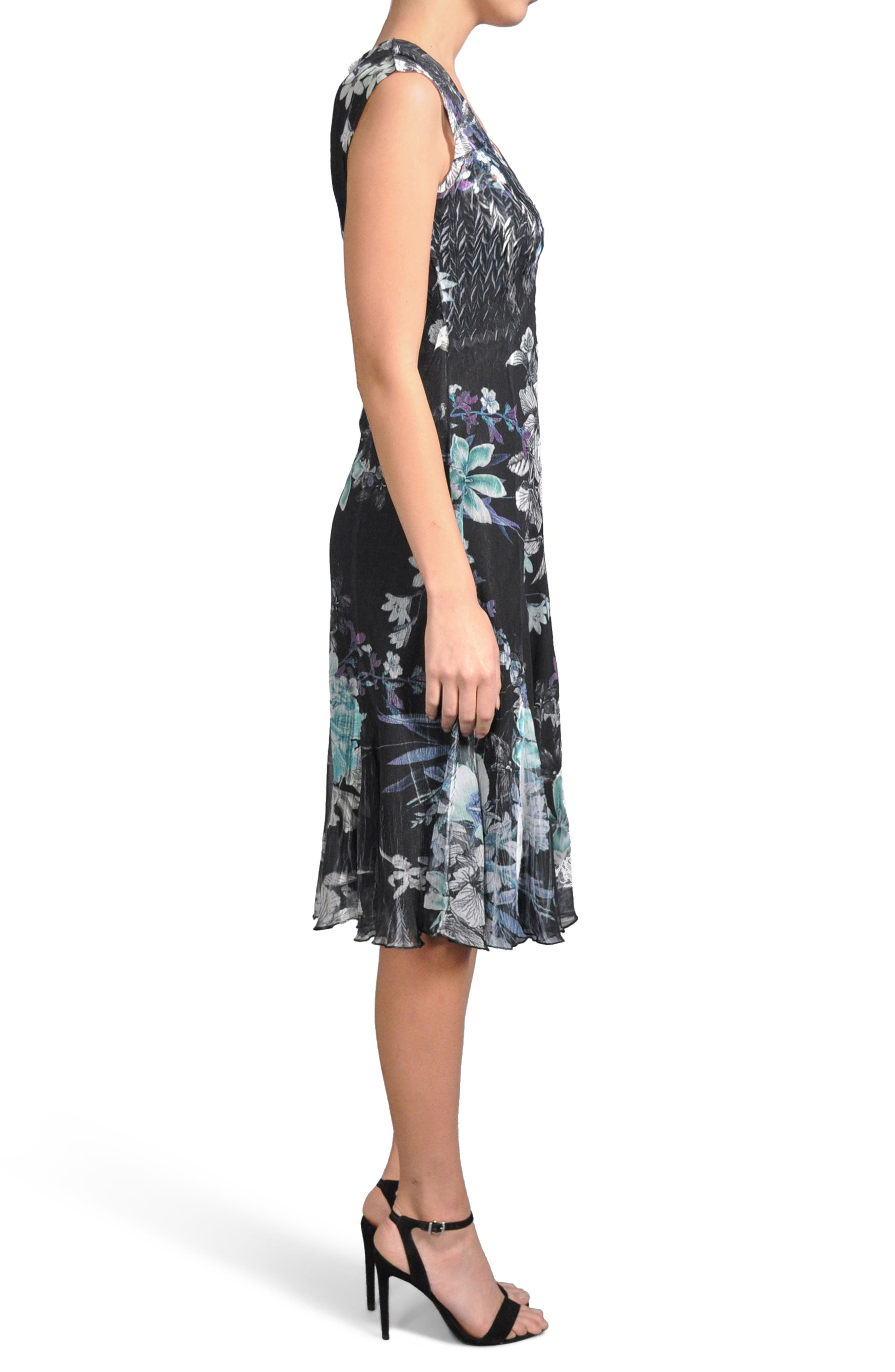 Alternate Image 3  - Komarov Print Chiffon Dress (Regular & Petite)