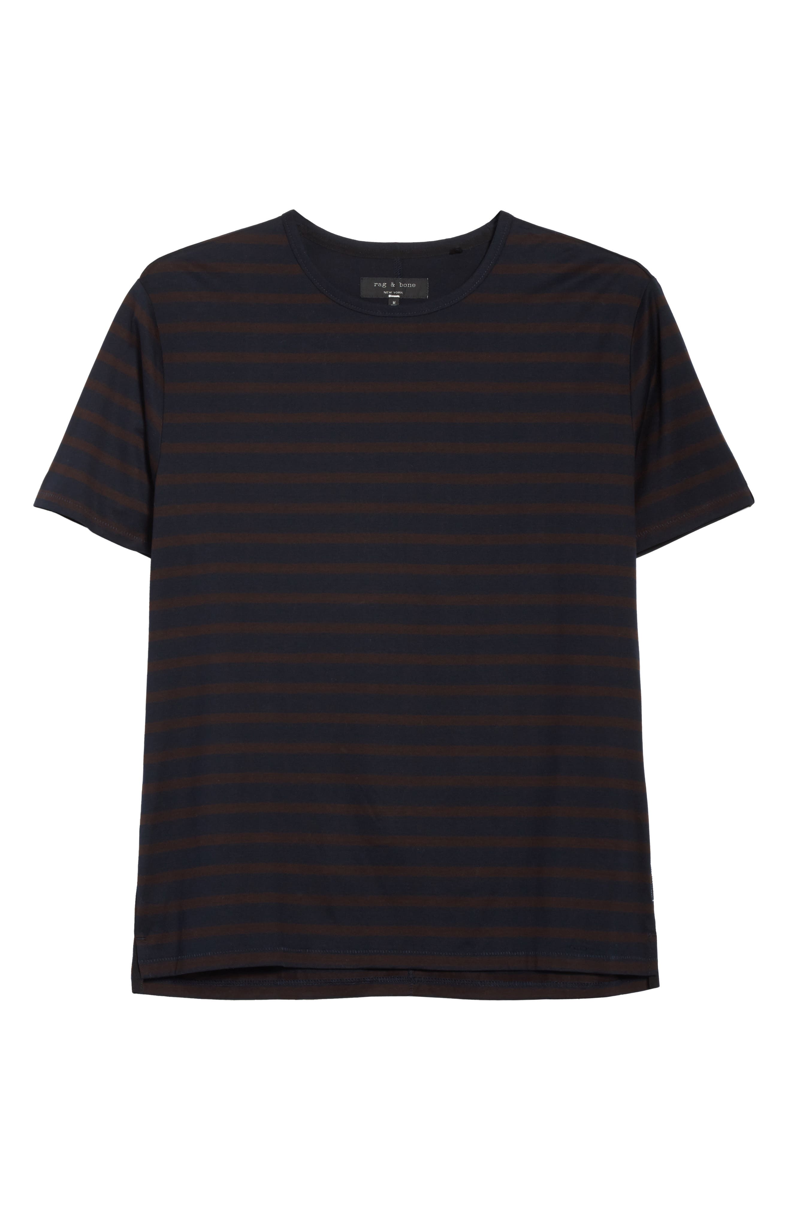 Henry Stripe T-Shirt,                             Alternate thumbnail 6, color,                             Navy/ Chocolate