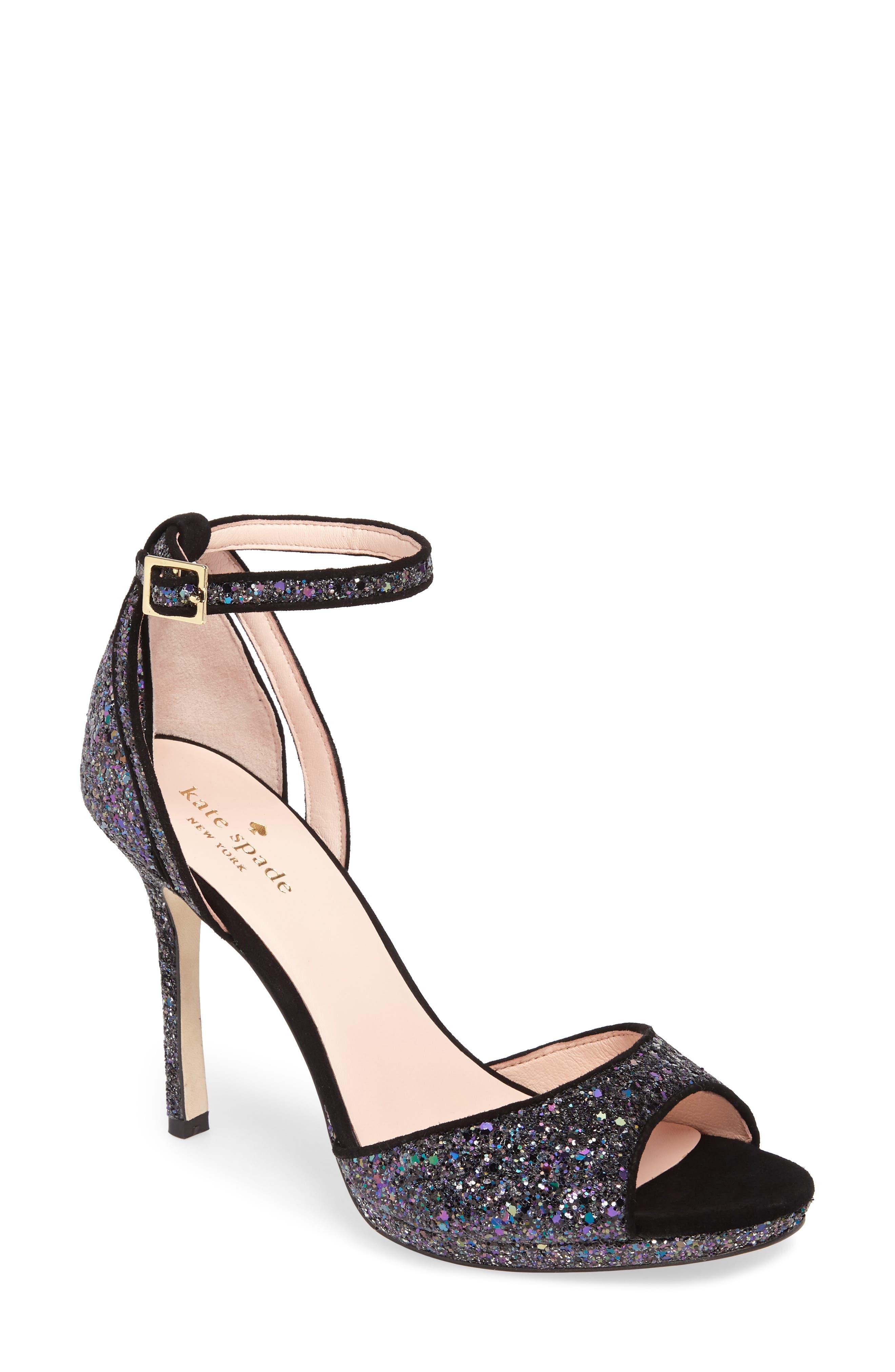 kate spade franklin sandal,                         Main,                         color, Midnight Glitter