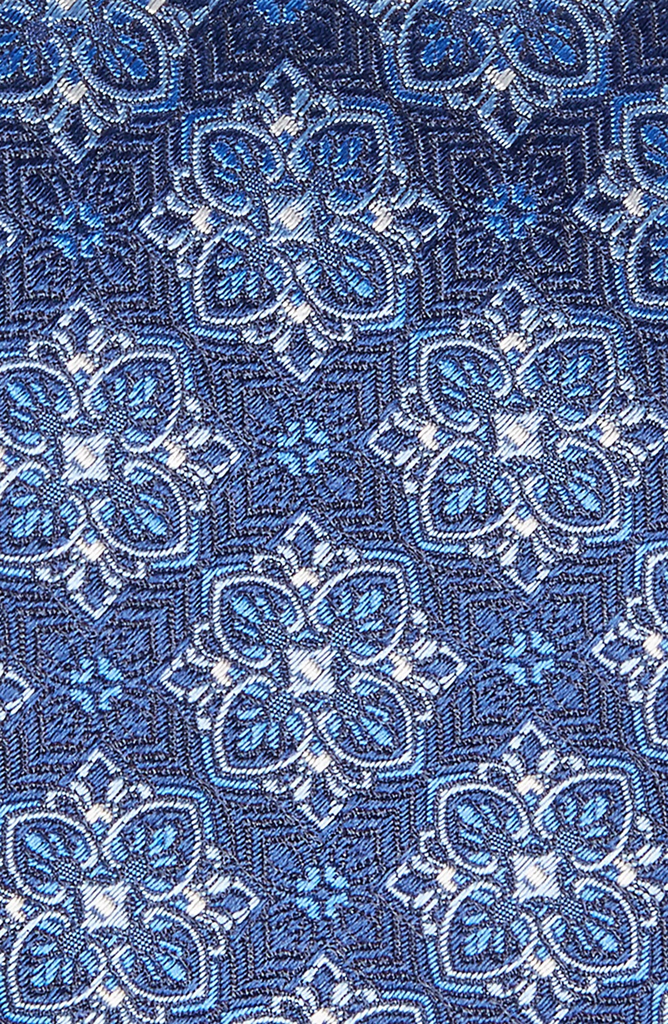 Alternate Image 2  - David Donahue Medallion Silk Tie (X-Long)