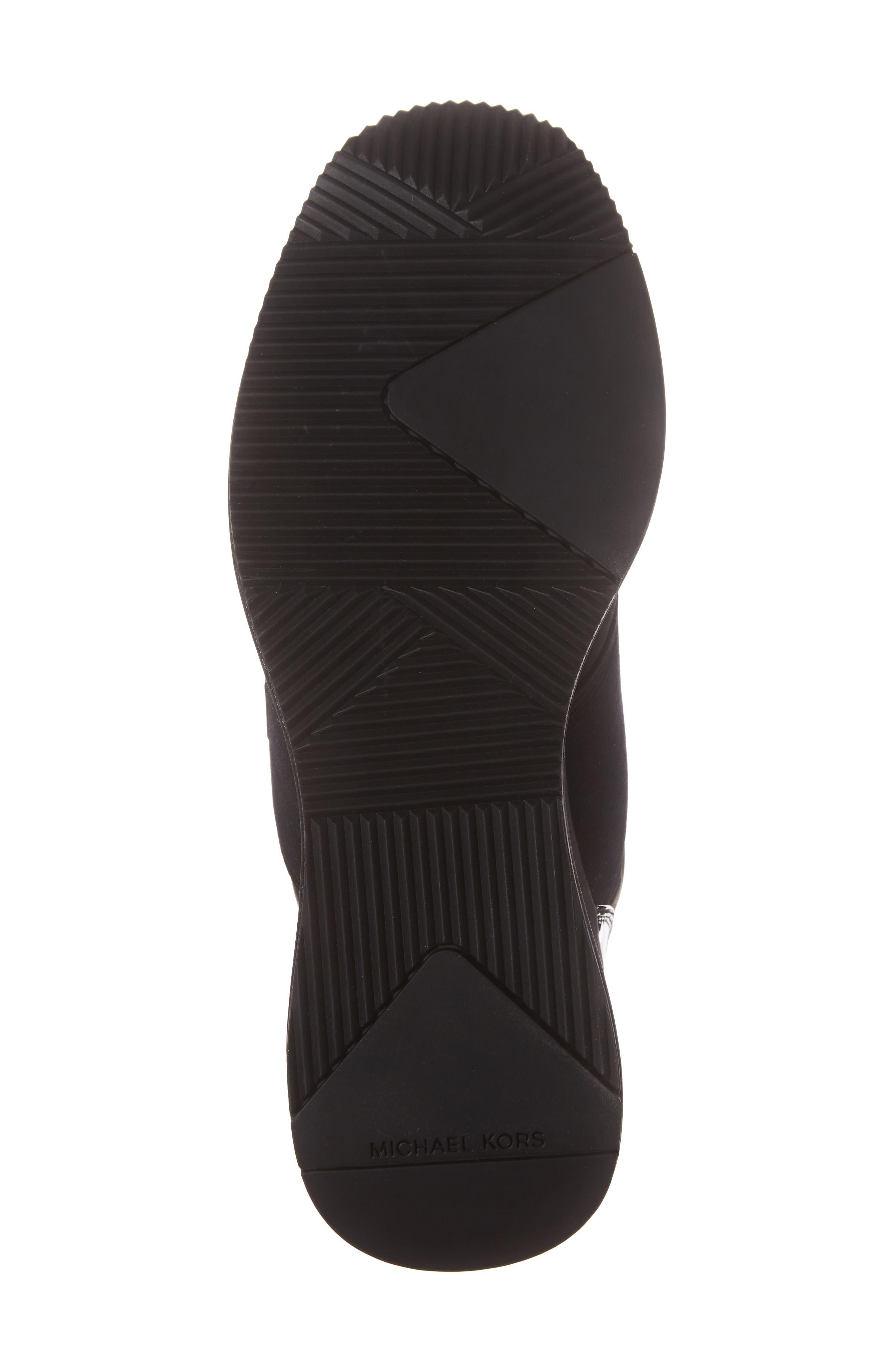 Shay Wedge Bootie,                             Alternate thumbnail 6, color,                             Black Nylon Fabric