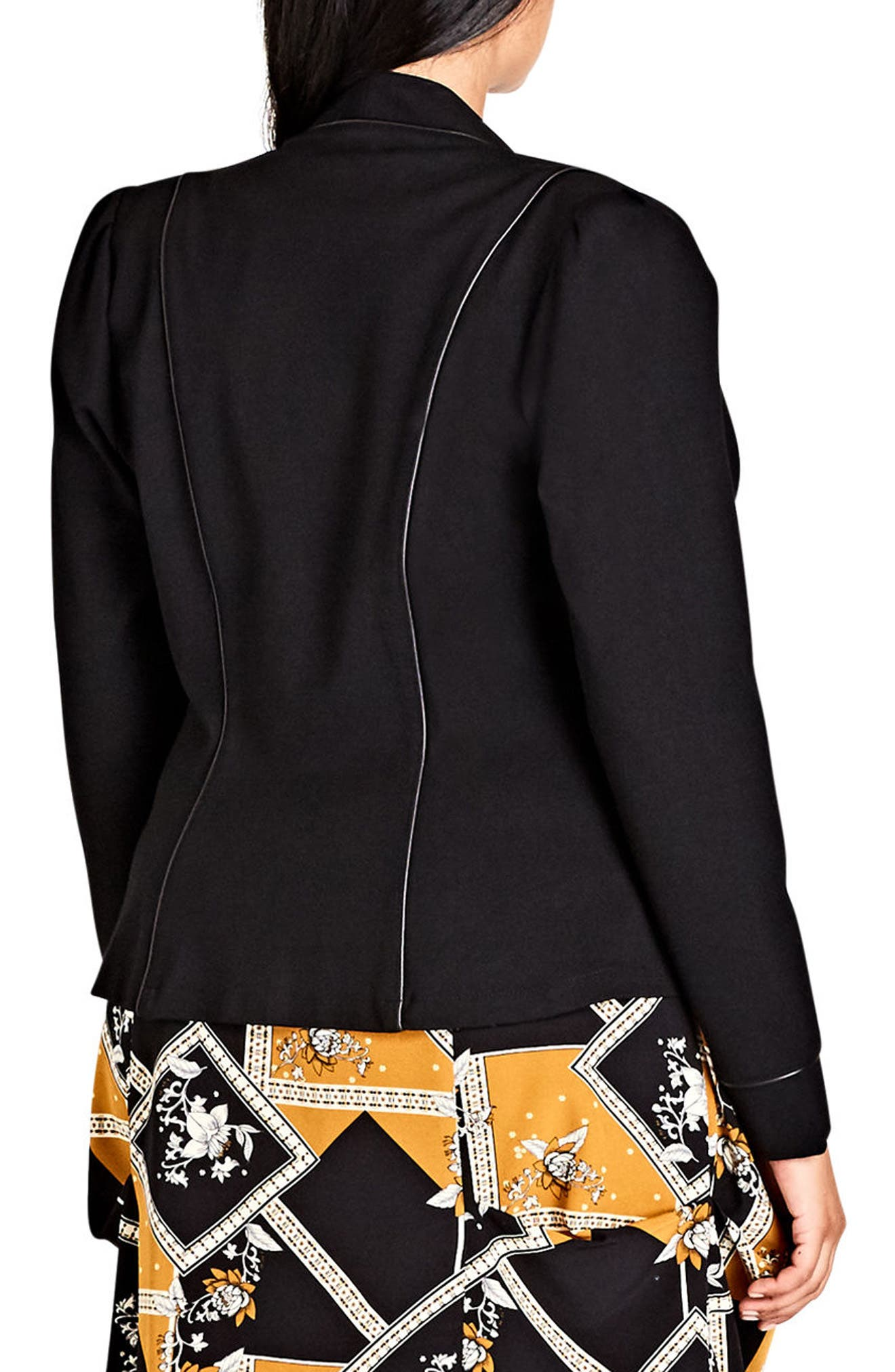 Alternate Image 2  - City Chic Piping Praise Jacket (Plus Size)