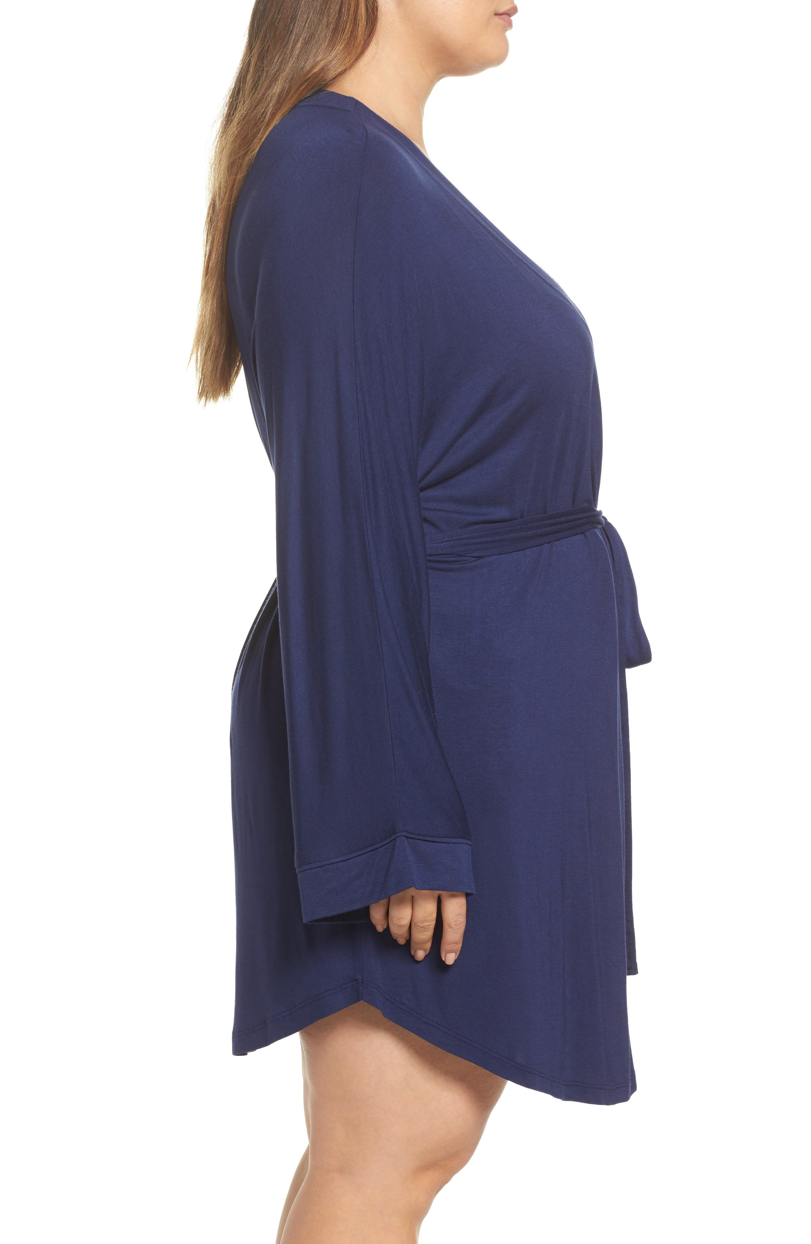 All American Jersey Robe,                             Alternate thumbnail 3, color,                             Navy