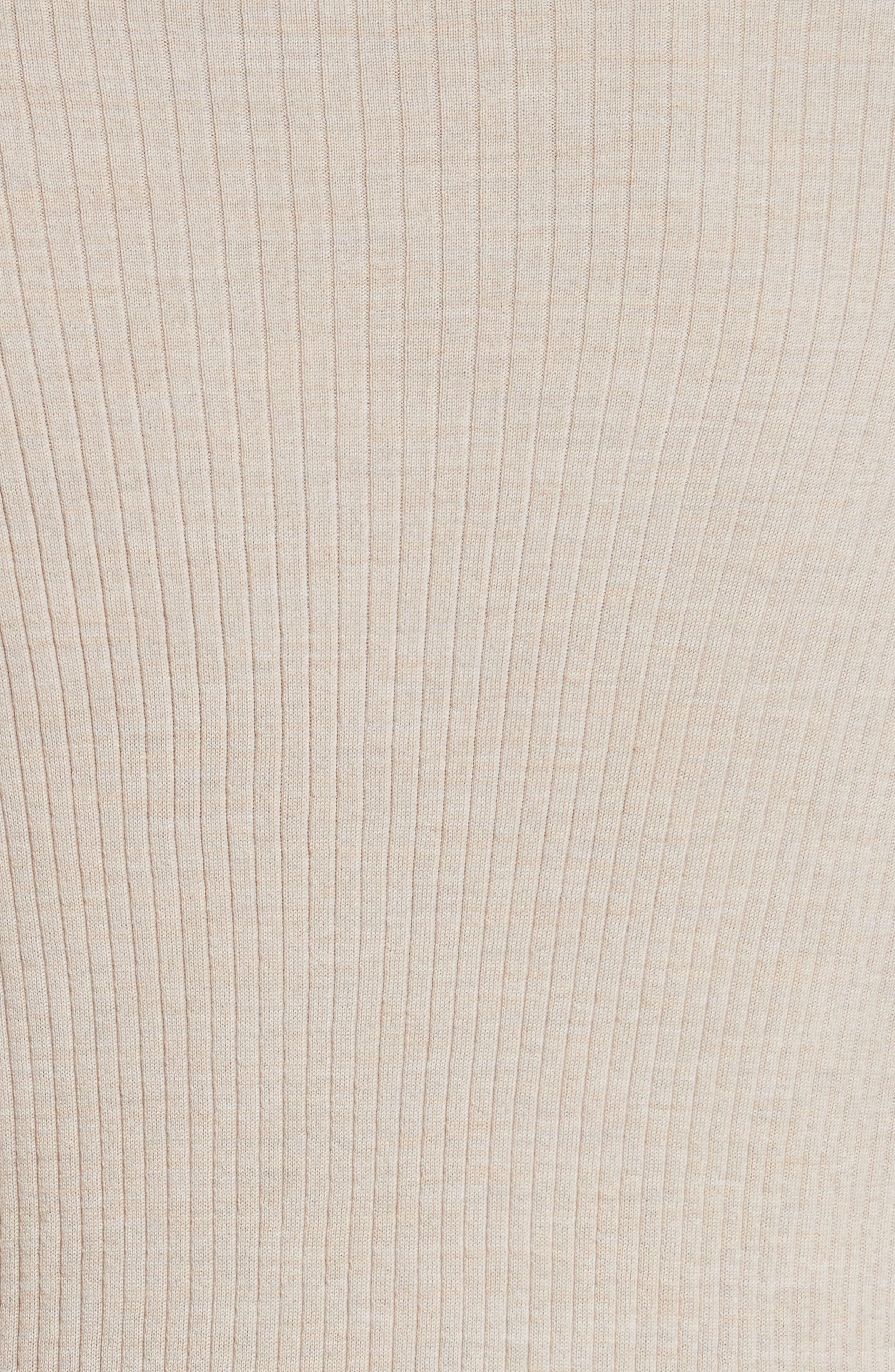 Metallic Wool Modern Ribbed Cardigan,                             Alternate thumbnail 6, color,                             Luxor Melange