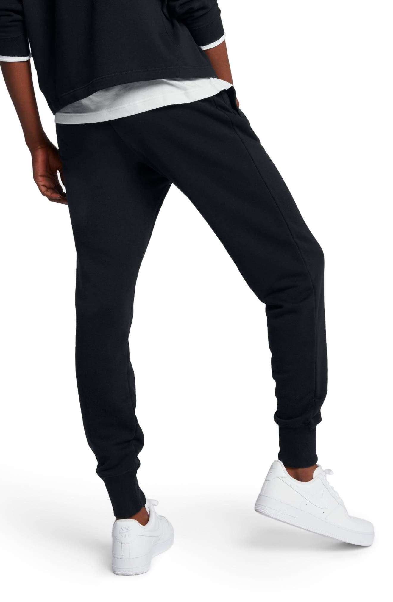 Sportswear Rally Fleece Pants,                             Alternate thumbnail 2, color,                             Black/ Black/ White
