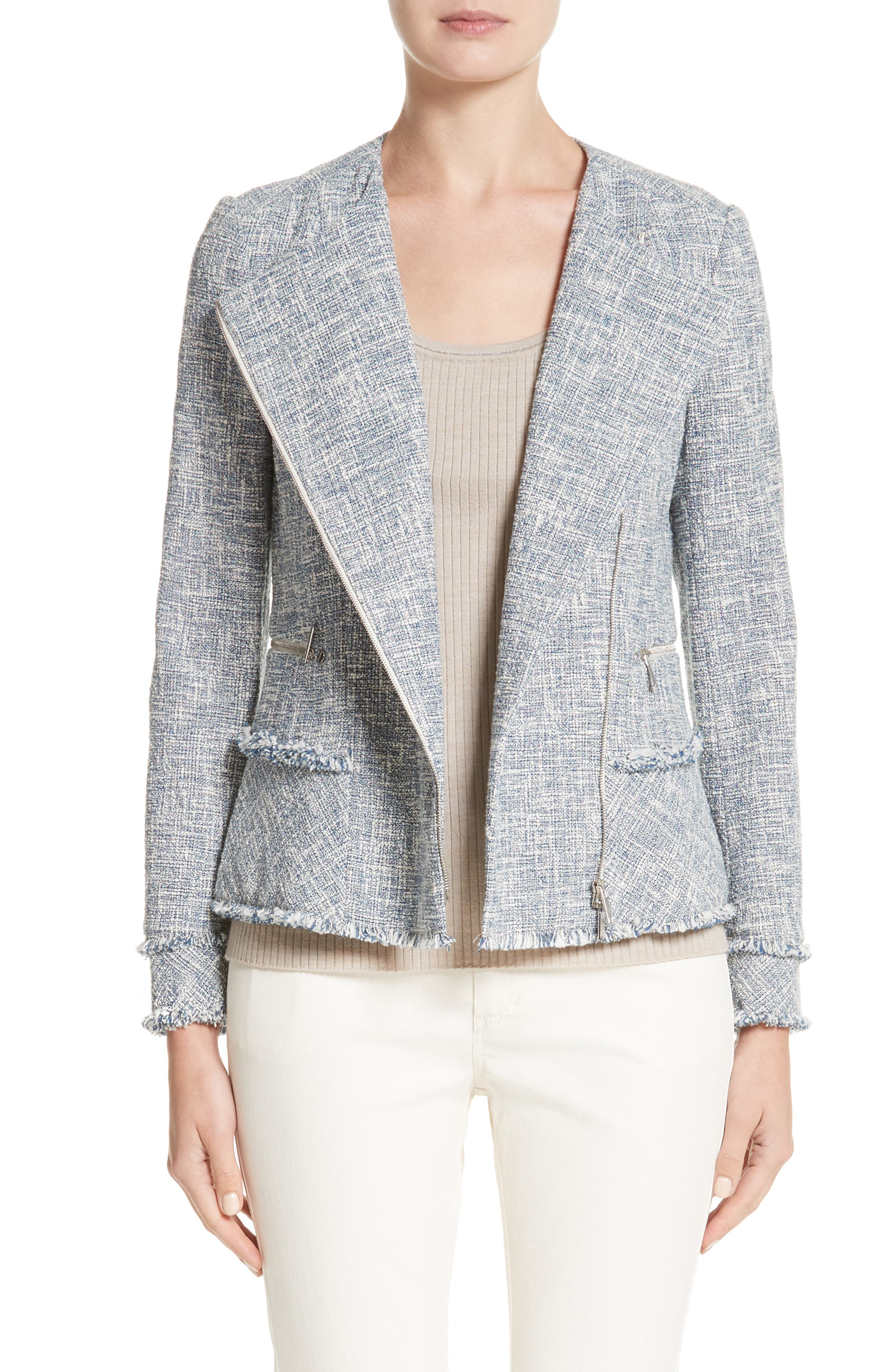 Main Image - Lafayette 148 New York Owen Tweed Jacket