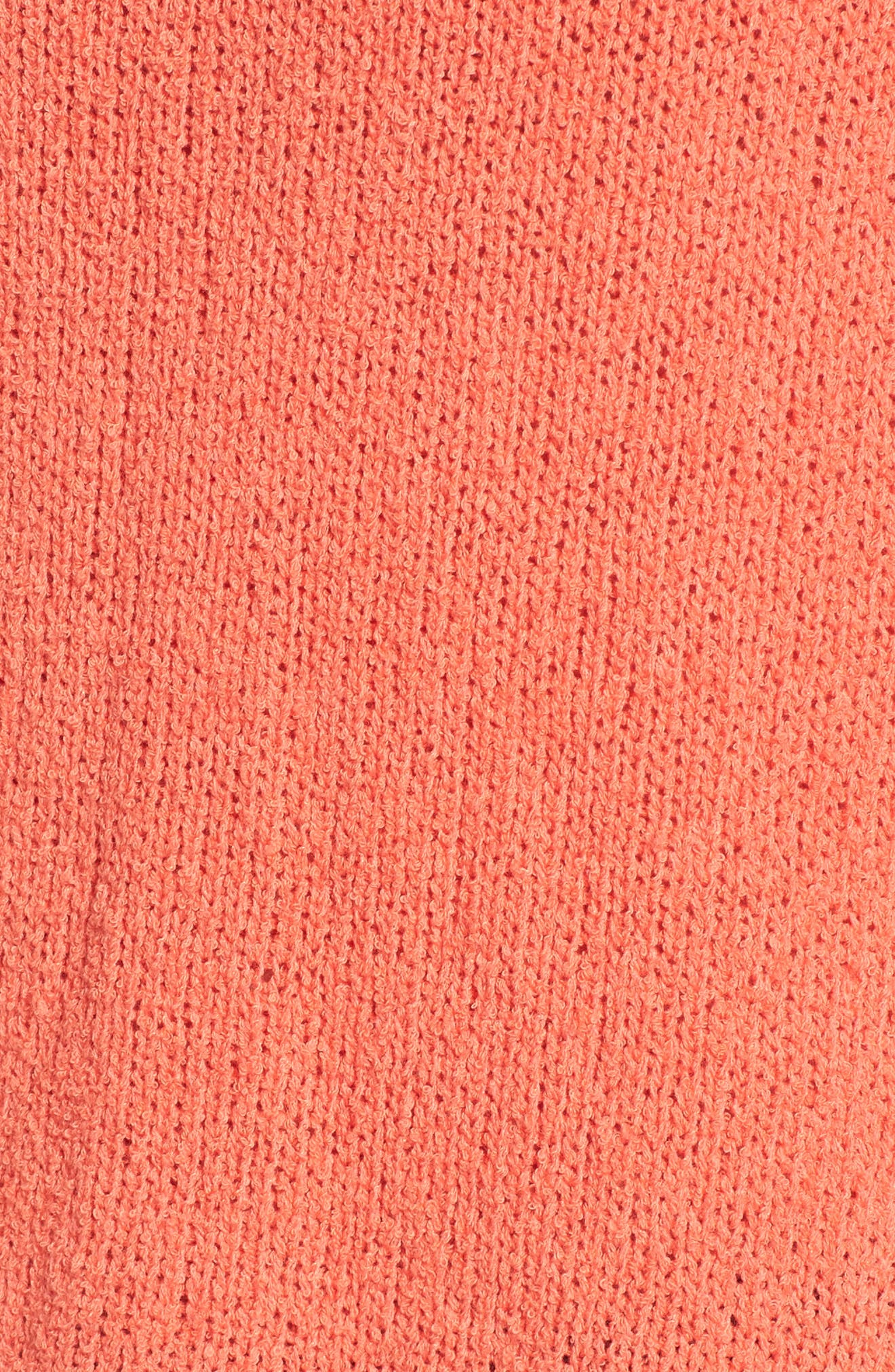 Relaxed Crewneck Sweater,                             Alternate thumbnail 5, color,                             Coral Sea