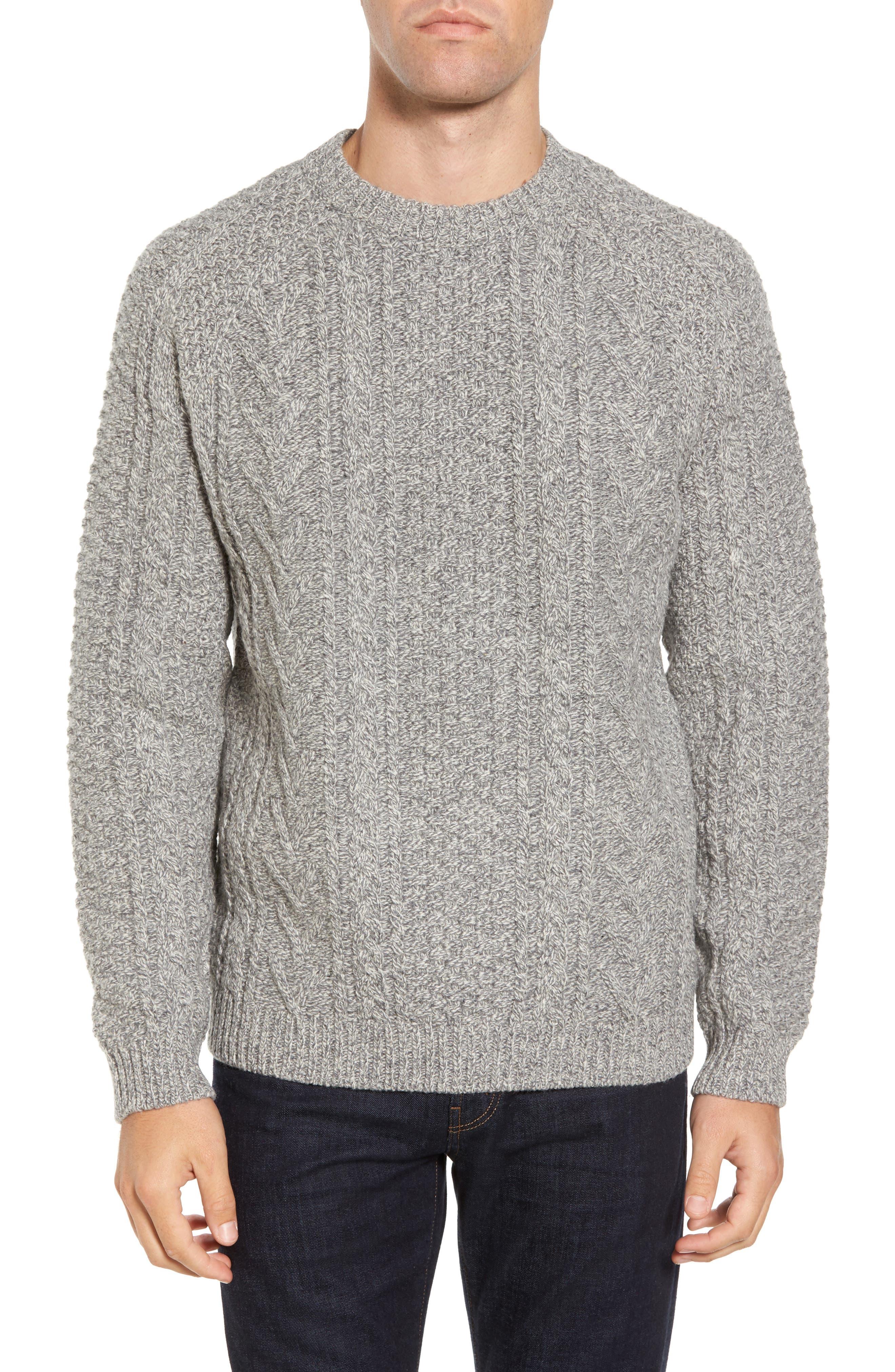 Schott NYC Fisherman Knit Wool Blend Sweater