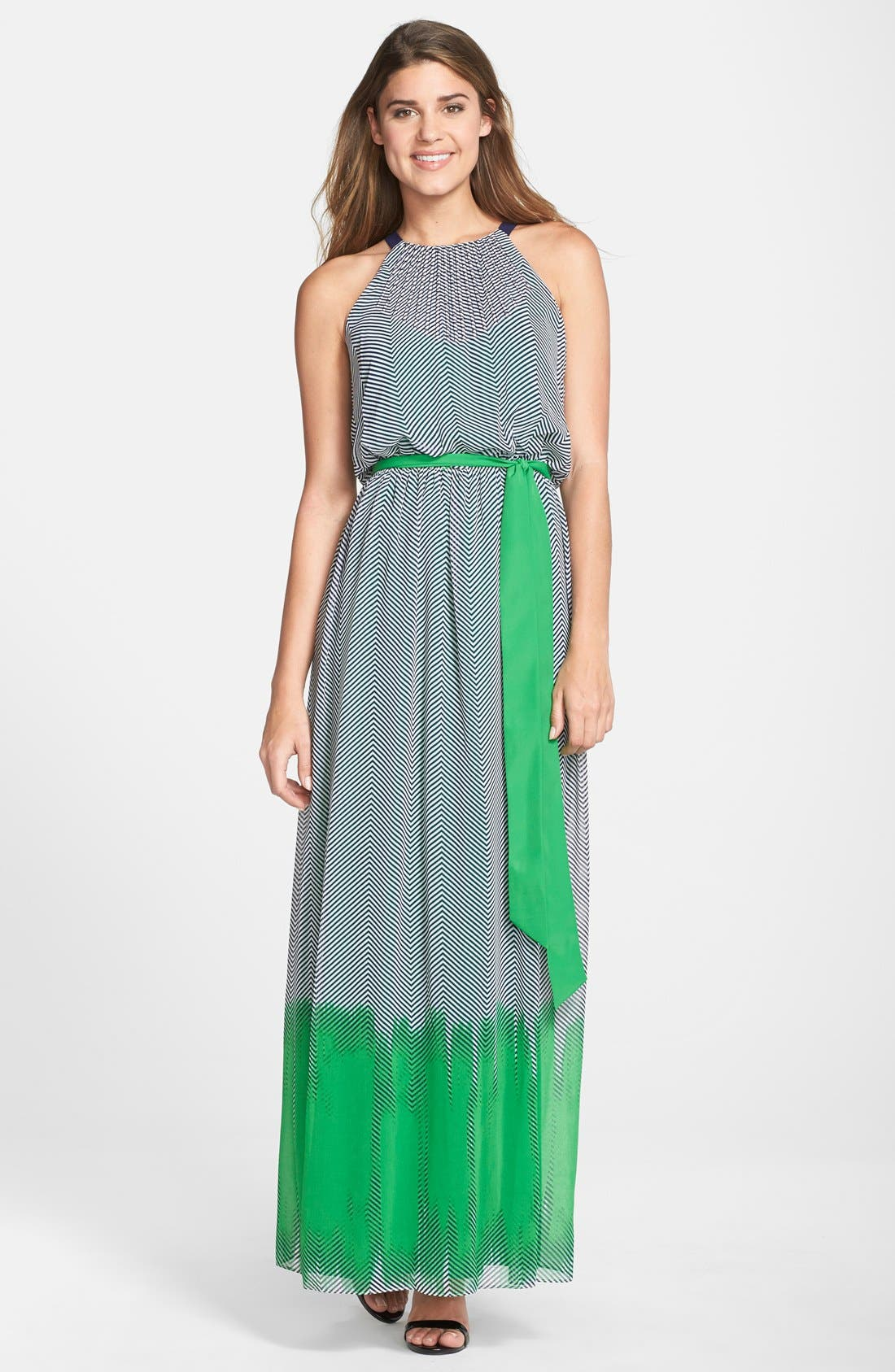 Alternate Image 1 Selected - Vince Camuto Print Crepe Maxi Dress