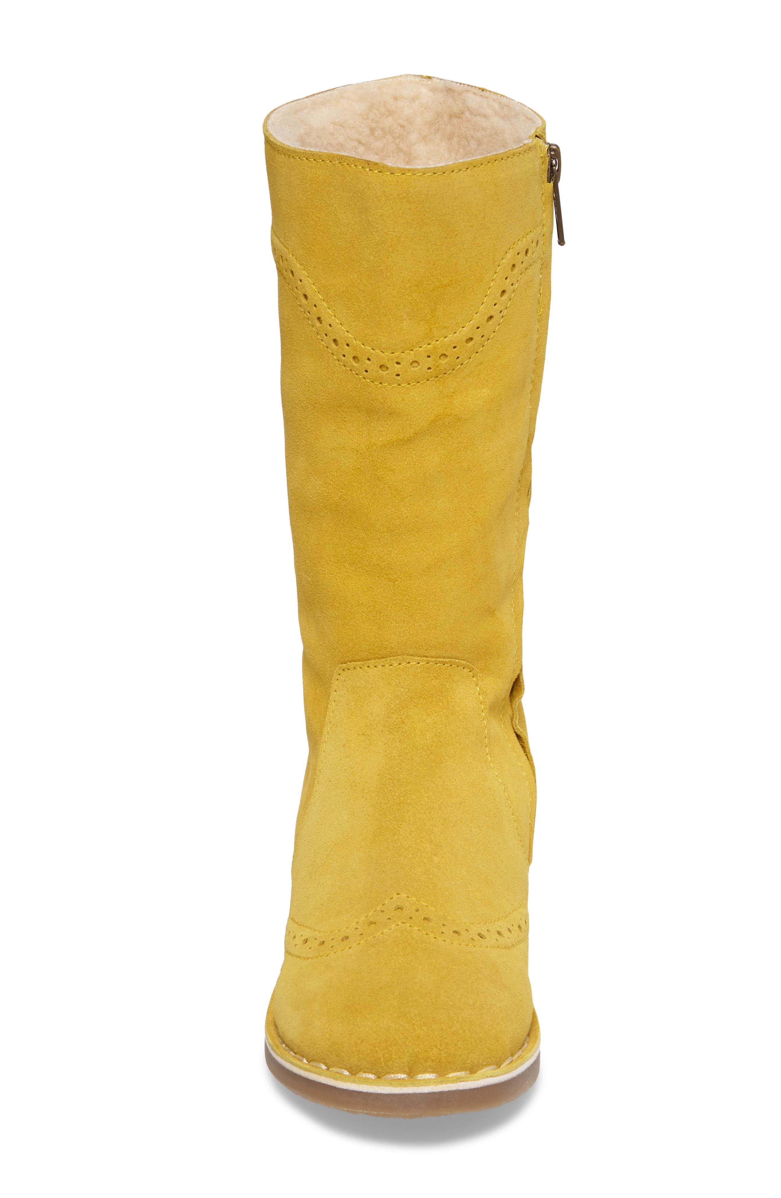 Alternate Image 4  - Mini Boden Tall Leather Boot (Toddler, Little Kid & Big Kid)