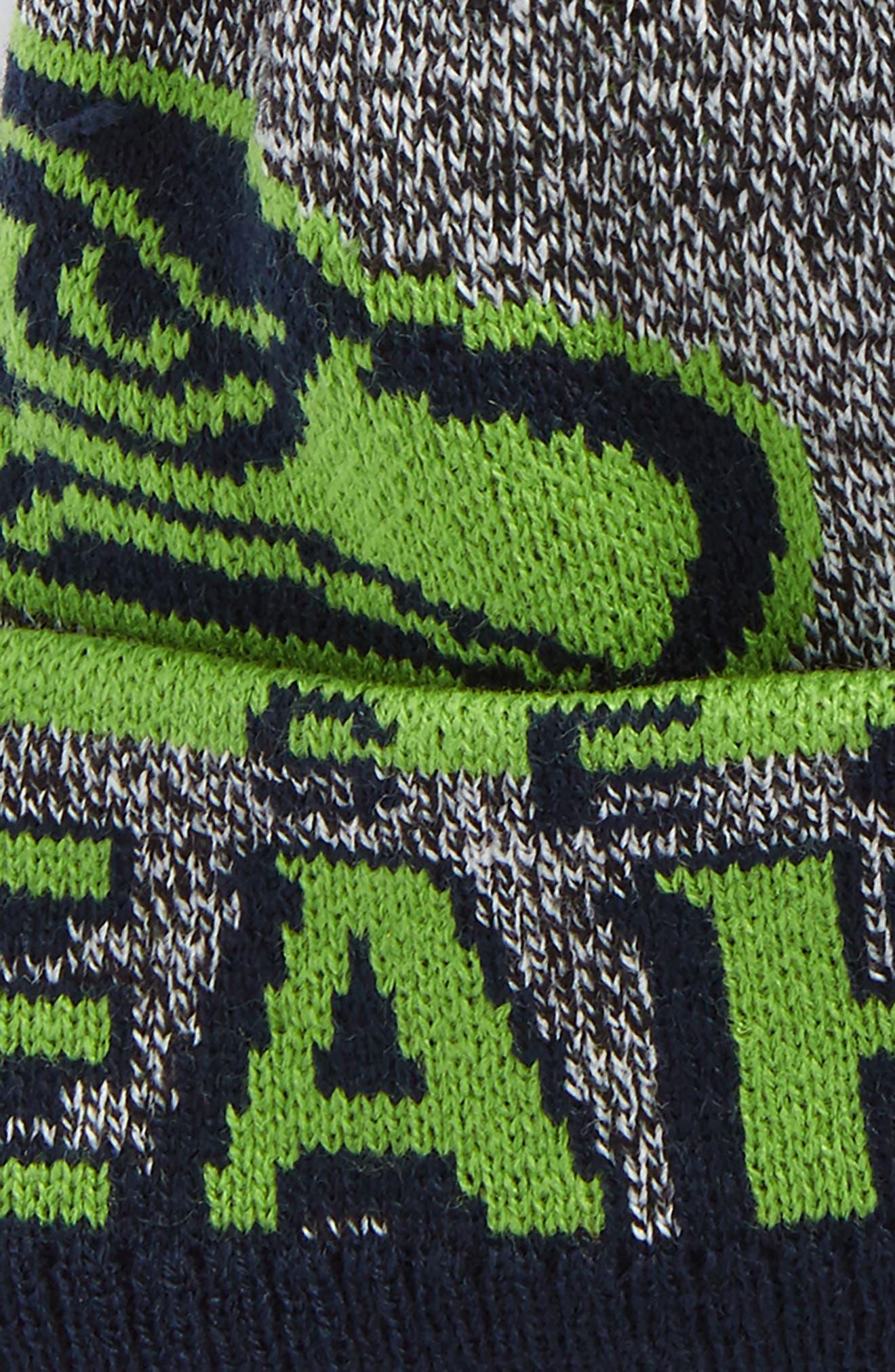 Alternate Image 2  - NFL Logo Jacquard Knit Cap (Kids)