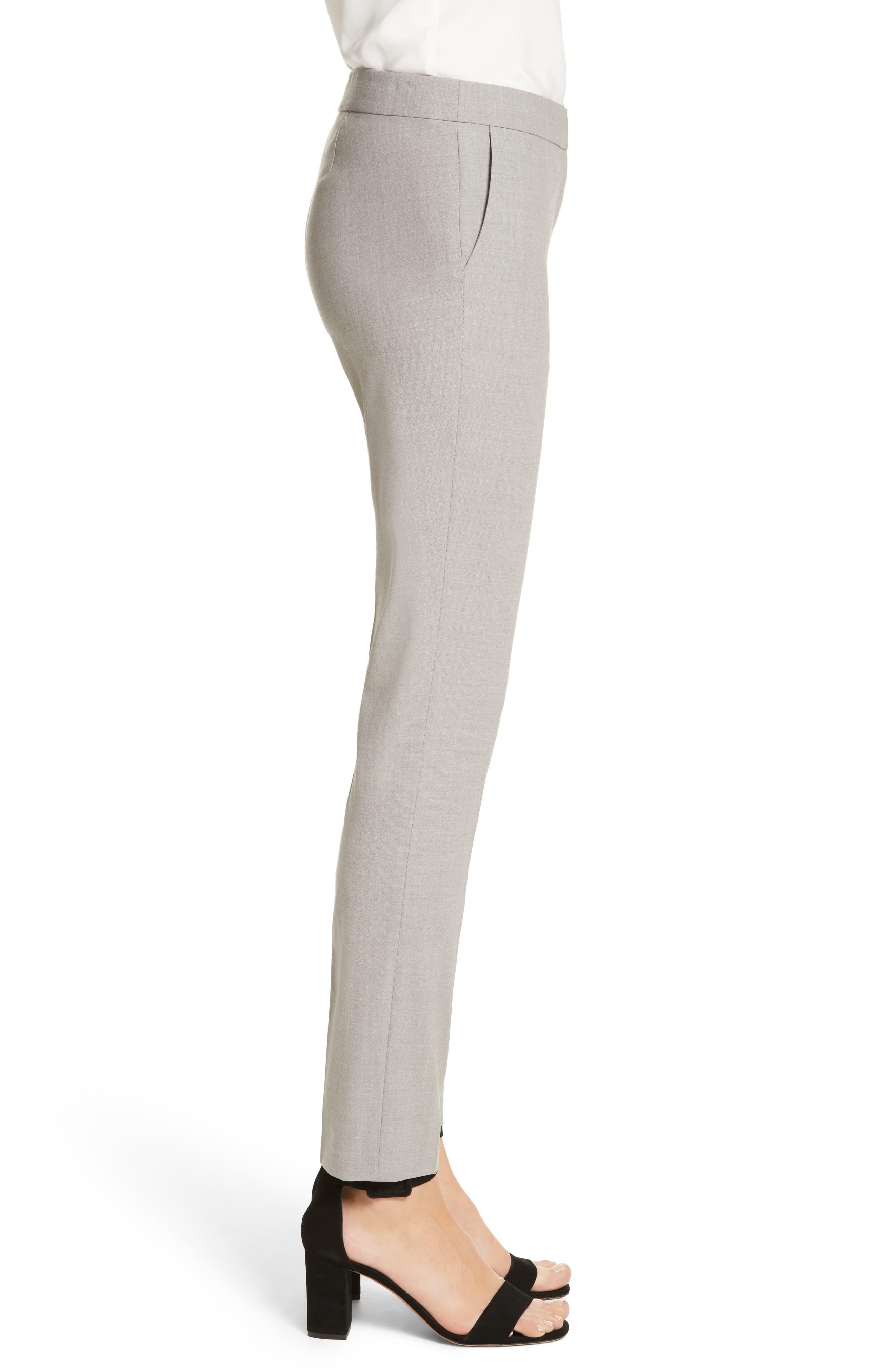 Manhattan Slim Pants,                             Alternate thumbnail 3, color,                             Feather Grey Melange