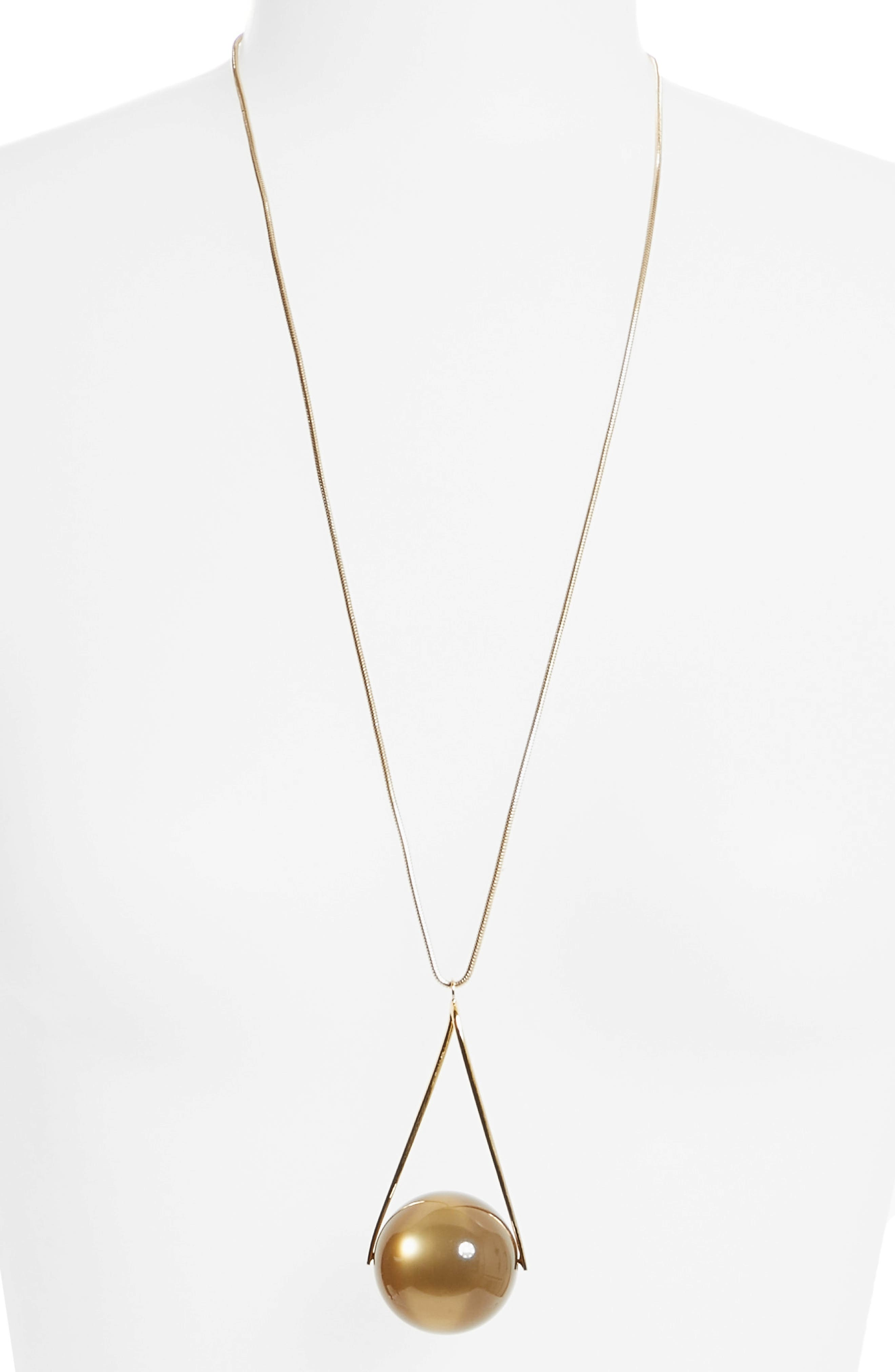 Alternate Image 3  - Lafayette 148 New York Single Orb Necklace