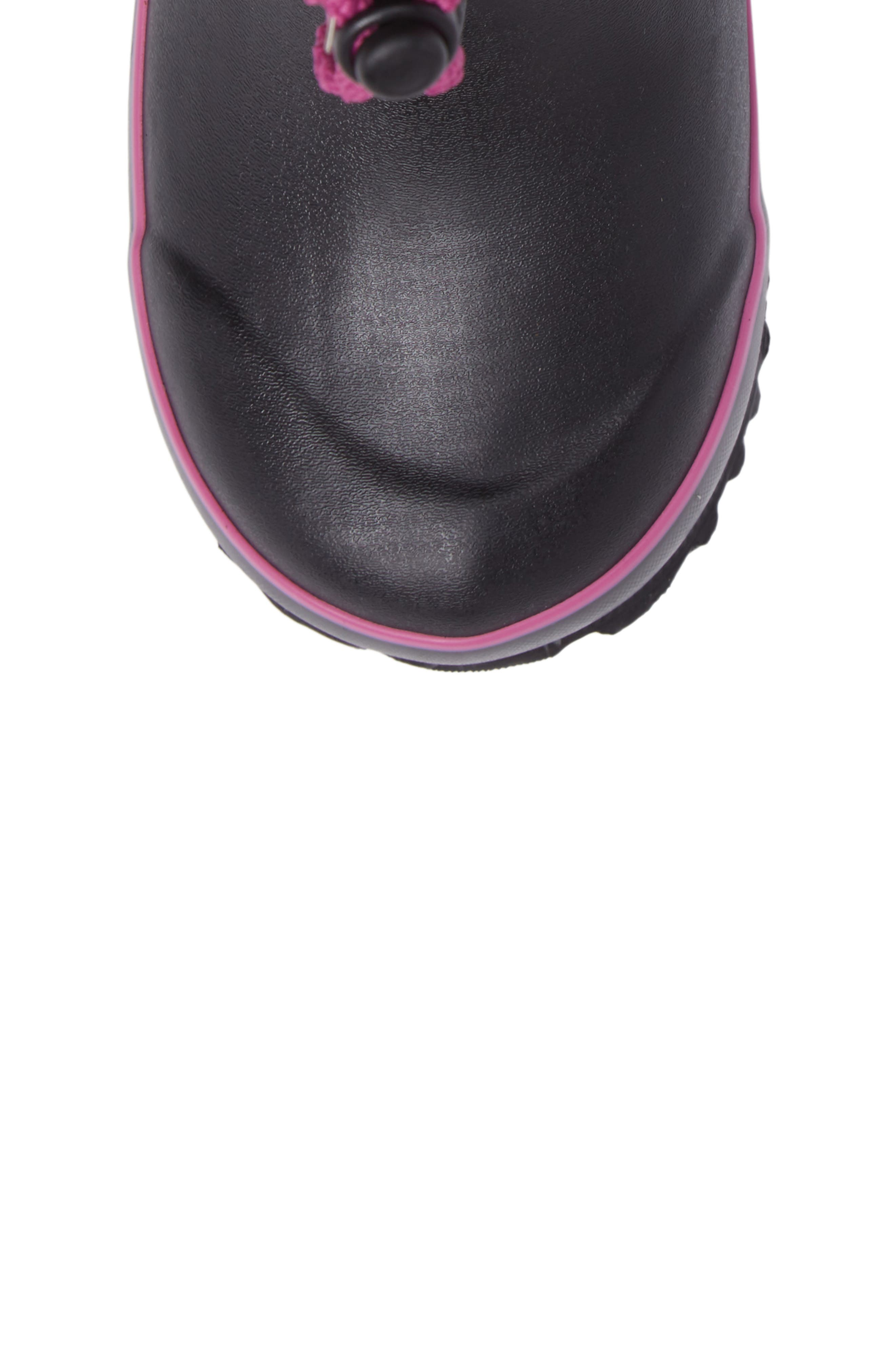 Juno Faux Fur Insulated Waterproof Boot,                             Alternate thumbnail 5, color,                             Black Multi