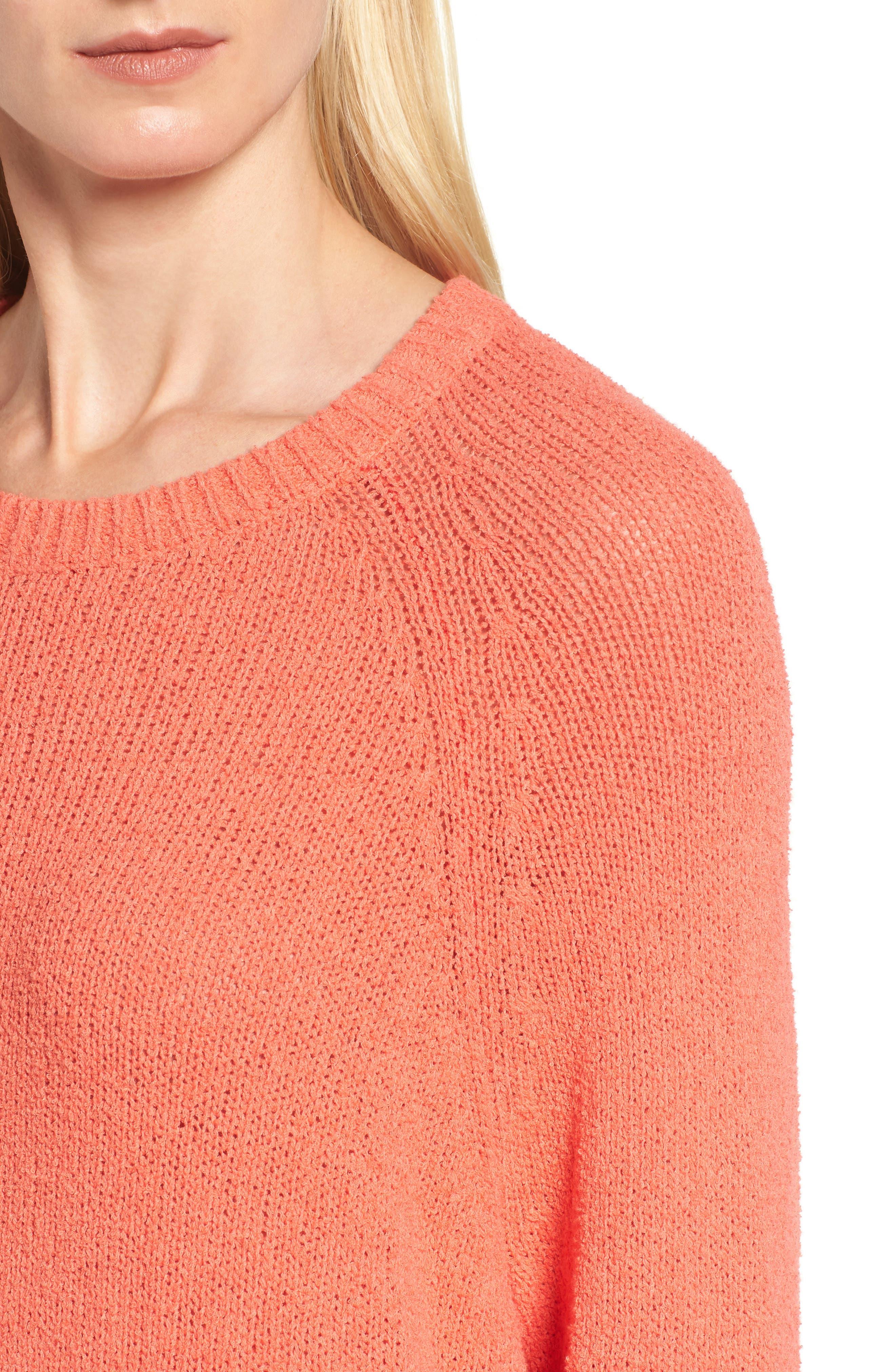 Alternate Image 4  - Caslon® Relaxed Crewneck Sweater