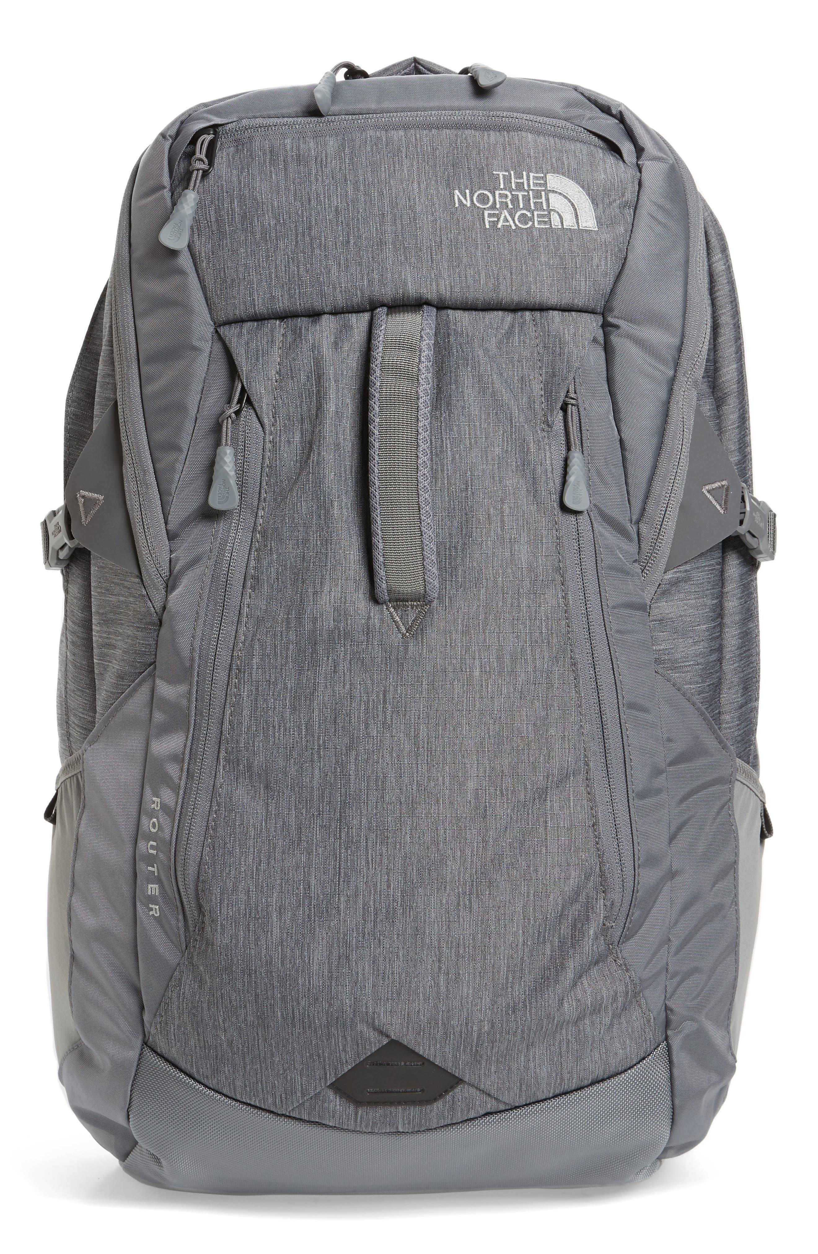 Router Backpack,                             Main thumbnail 1, color,                             Medium Grey Heather/ Zinc Grey