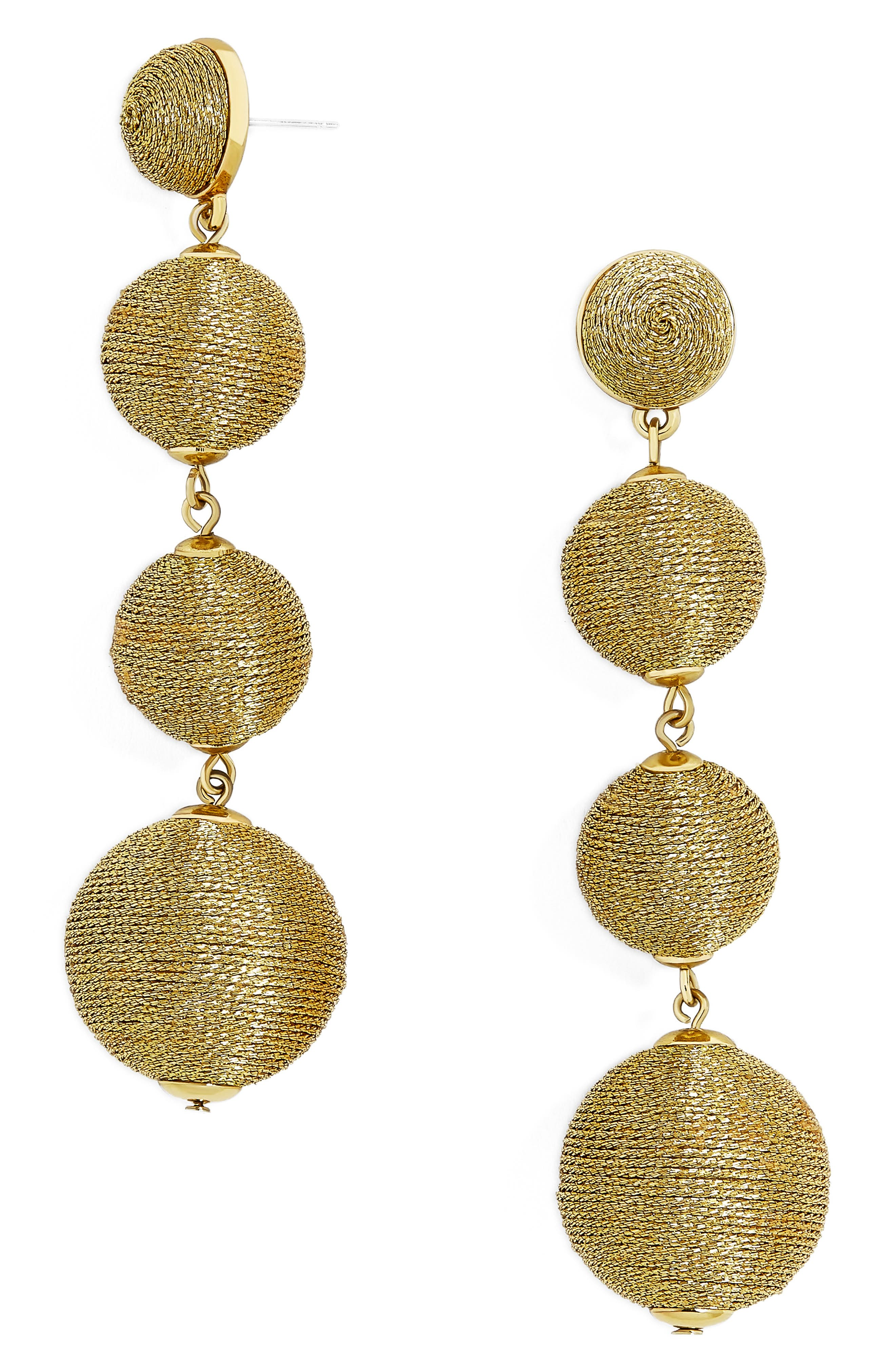 Criselda Ball Shoulder Duster Earrings,                         Main,                         color, Gold