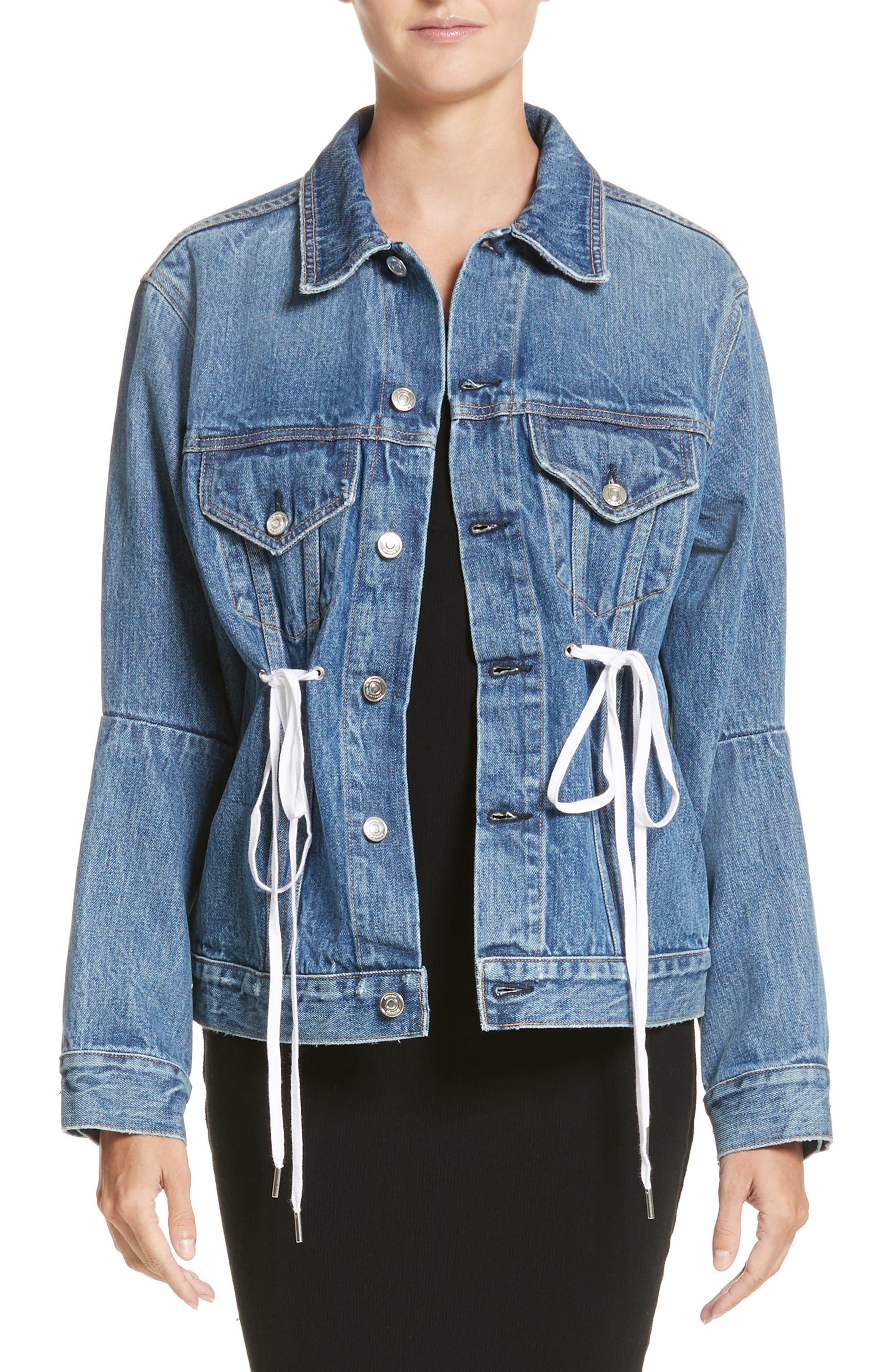 Proenza Schouler PSWL Drawstring Denim Jacket