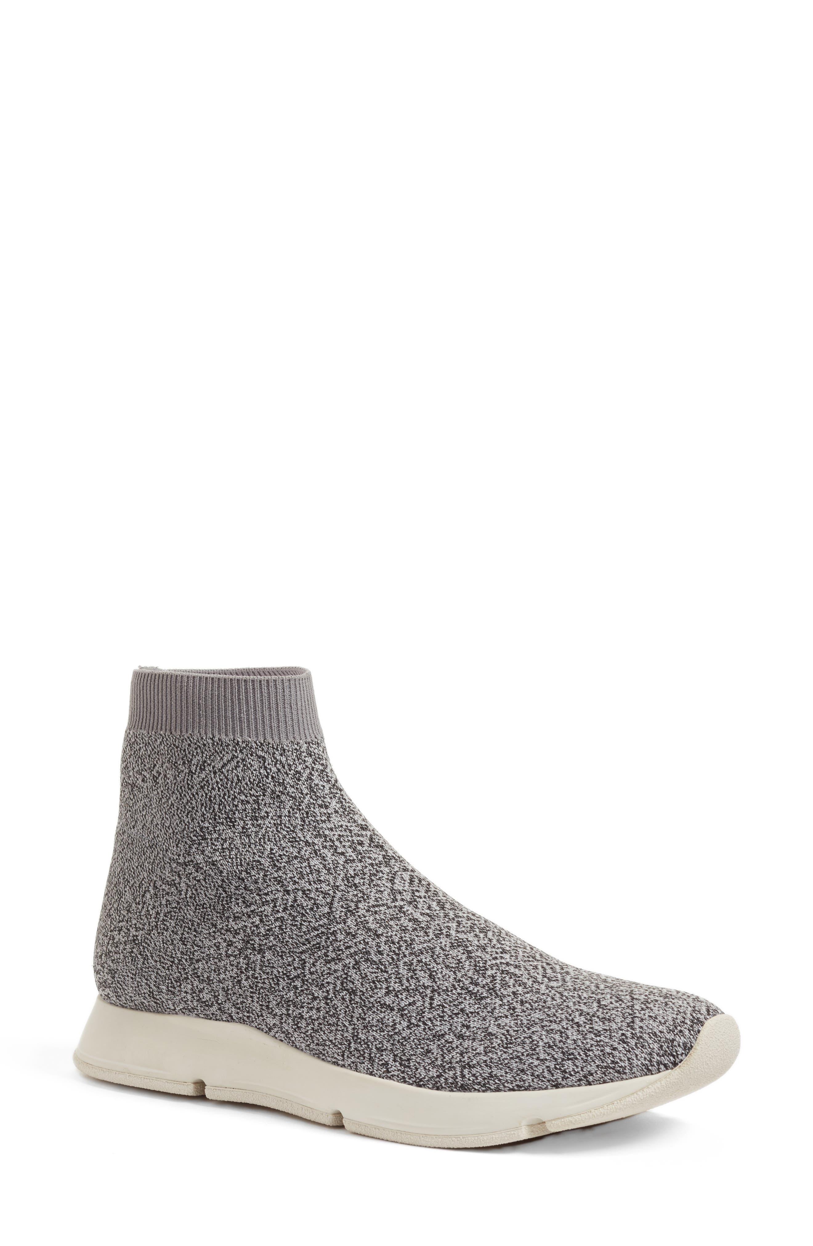Tyra Sock Sneaker,                         Main,                         color, Grey Marl