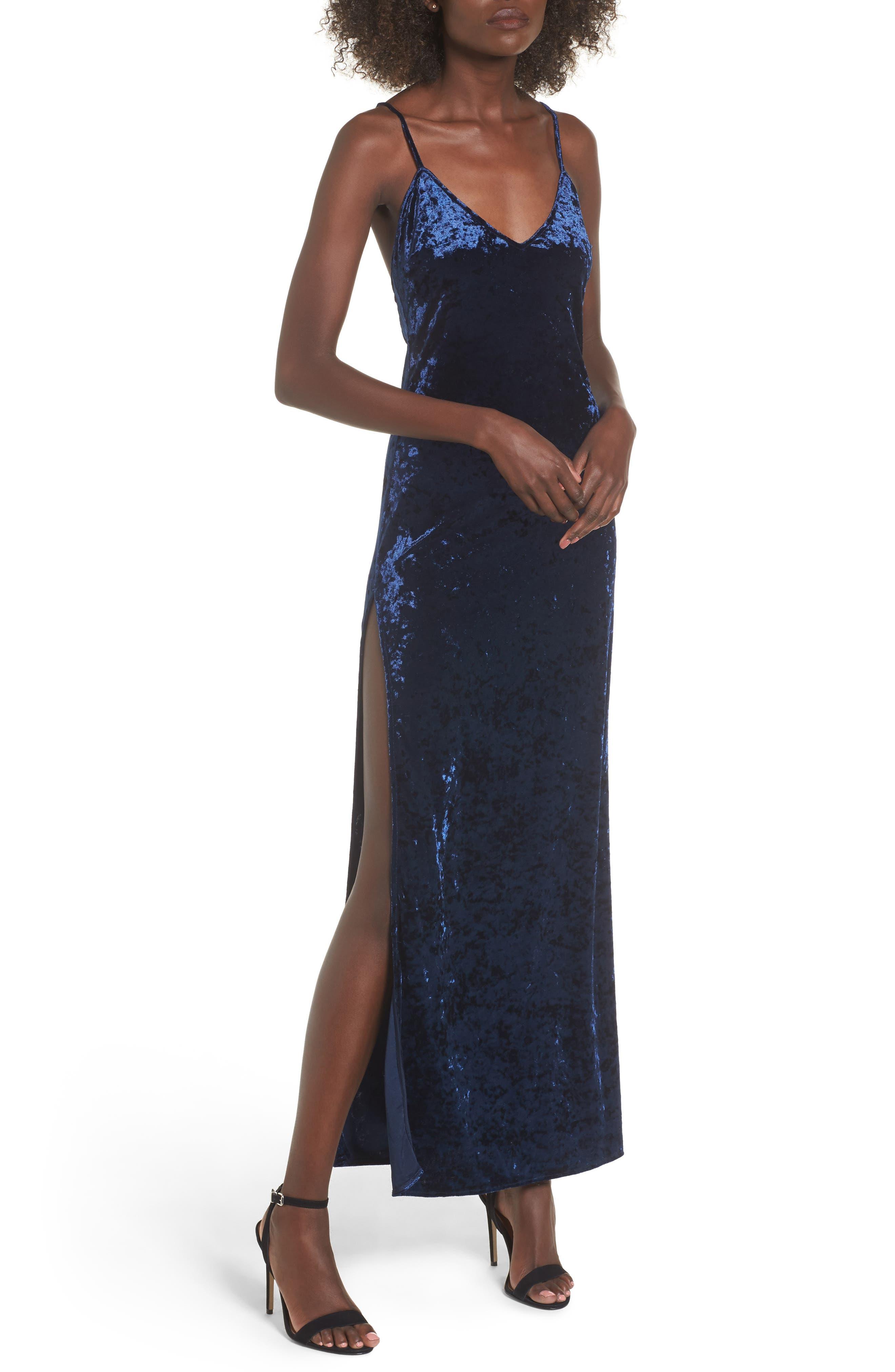 Alternate Image 1 Selected - NBD In the Deep Velvet Maxi Dress