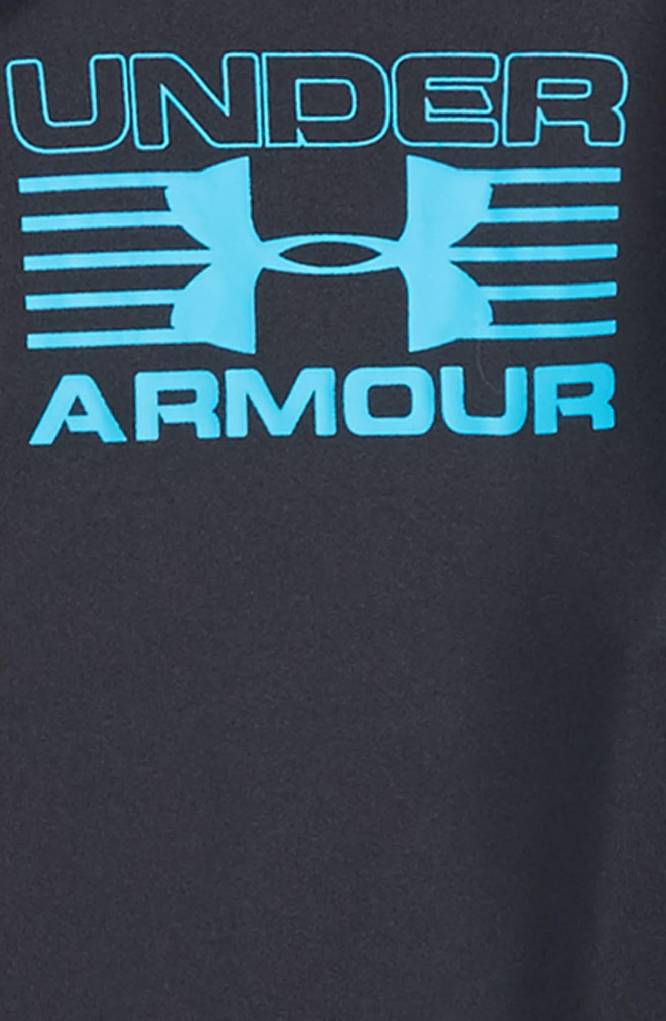Alternate Image 2  - Under Armour Hooded T-Shirt (Toddler Boys & Little Boys)