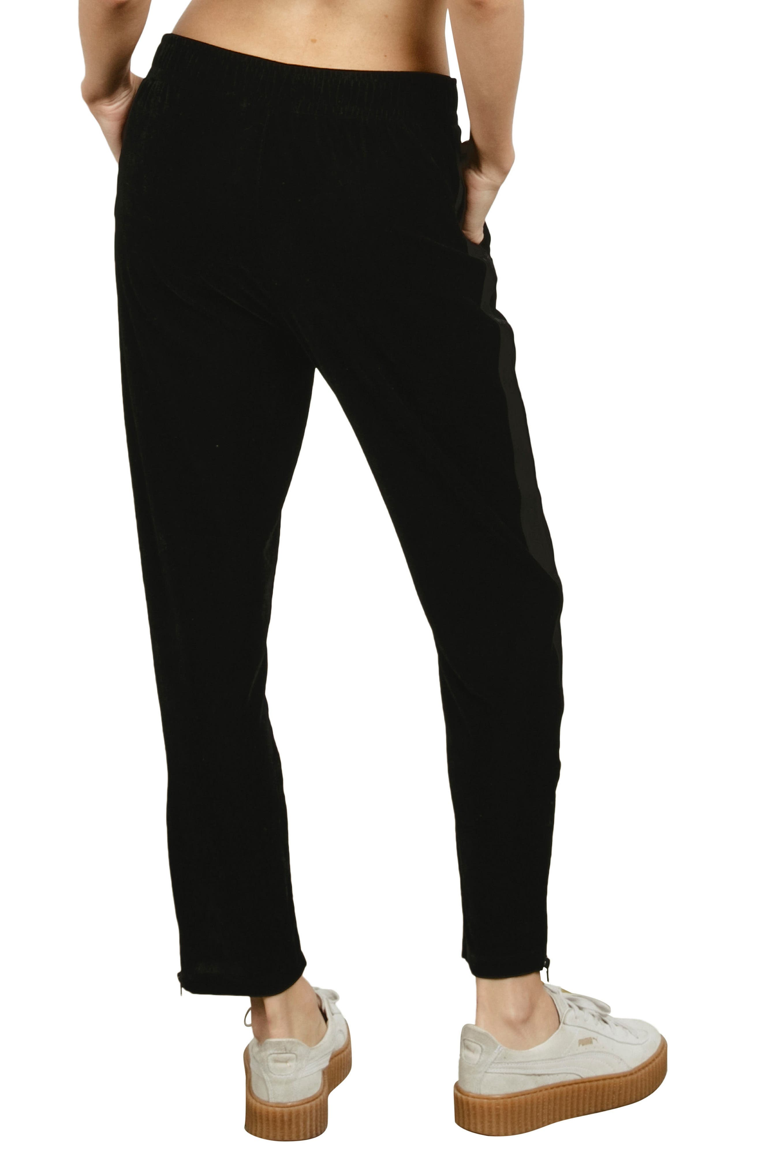 Velour You In Track Pants,                             Alternate thumbnail 2, color,                             Black