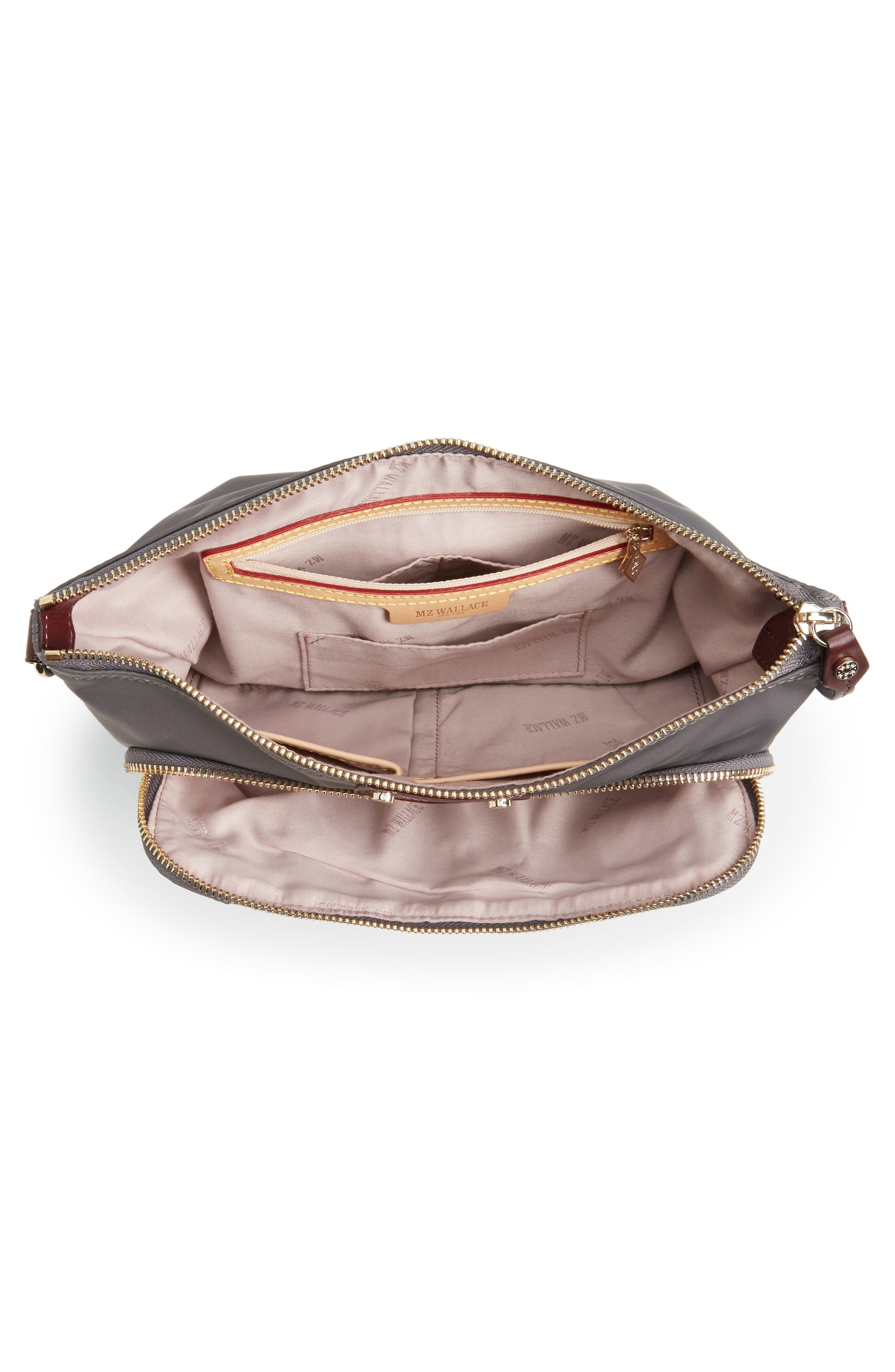 Toni Bedford Nylon Crossbody Bag,                             Alternate thumbnail 4, color,                             Magnet