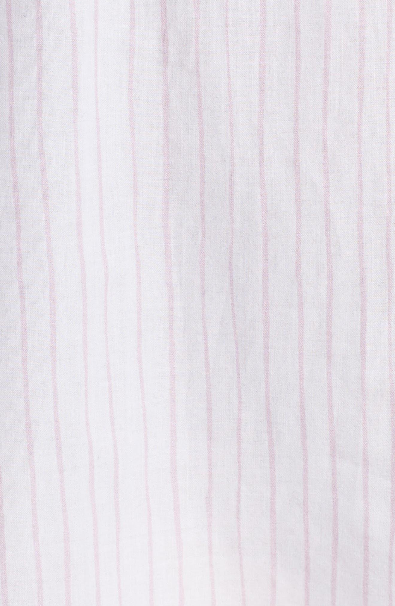 Pinstripe Boyfriend Sleep Shirt,                             Alternate thumbnail 5, color,                             Pink Stripe