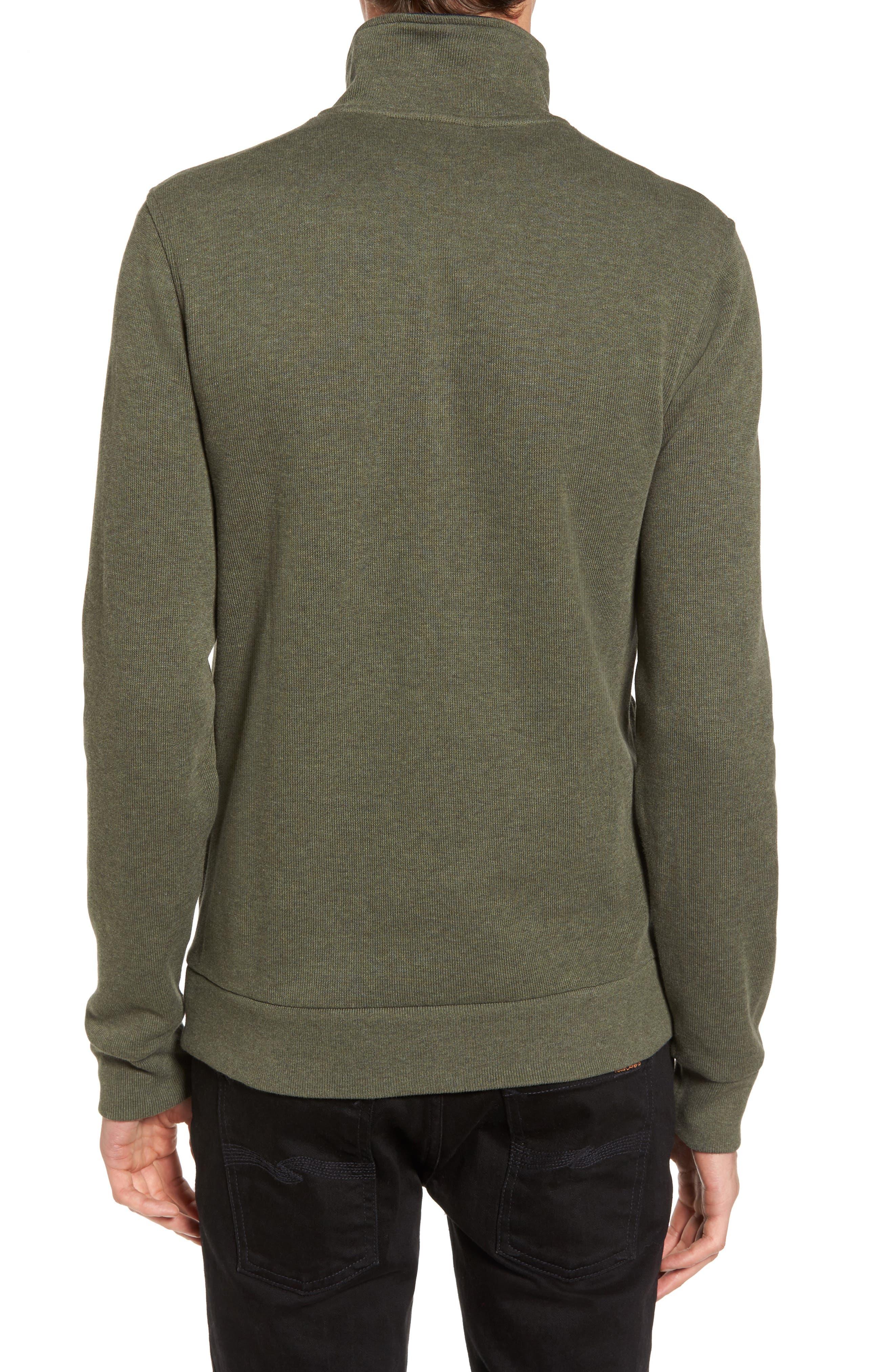 Quarter Zip Sweatshirt,                             Alternate thumbnail 2, color,                             2Qh Army/ Navy Blue
