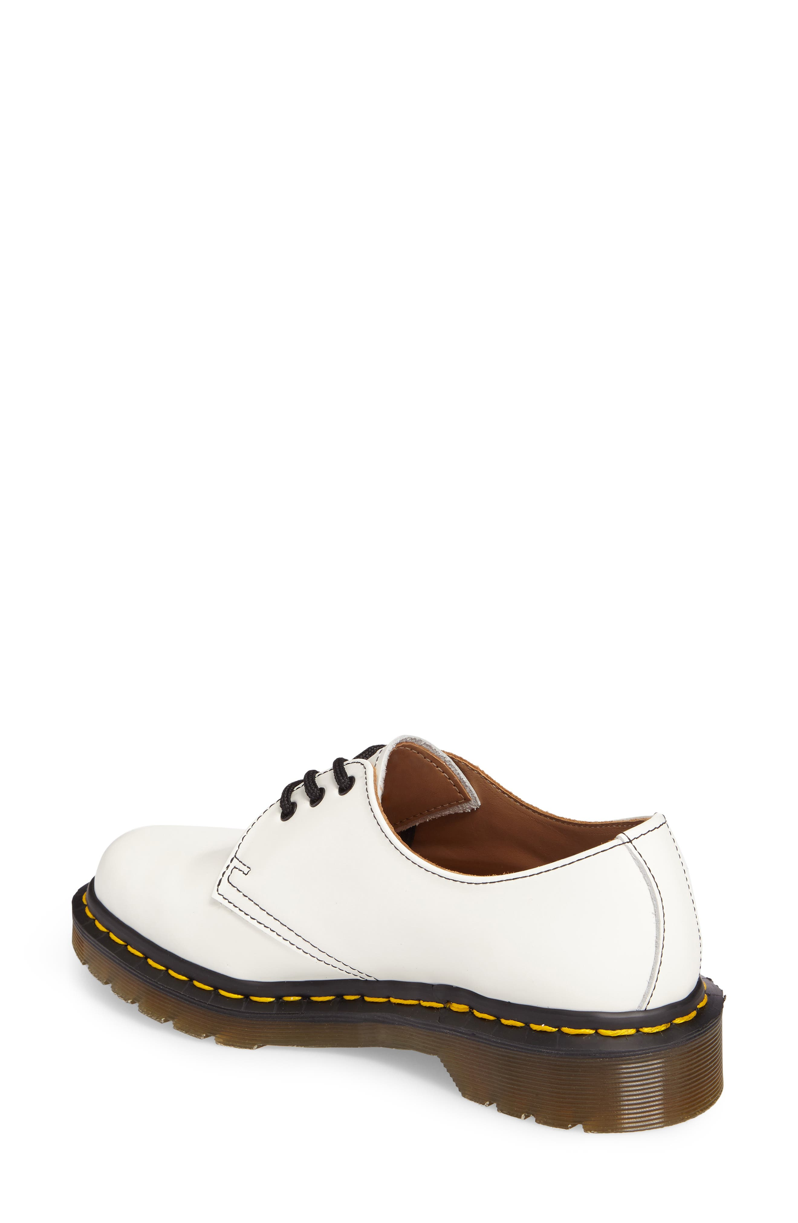 x Dr. Martens Pointy Toe Oxford,                             Alternate thumbnail 2, color,                             White
