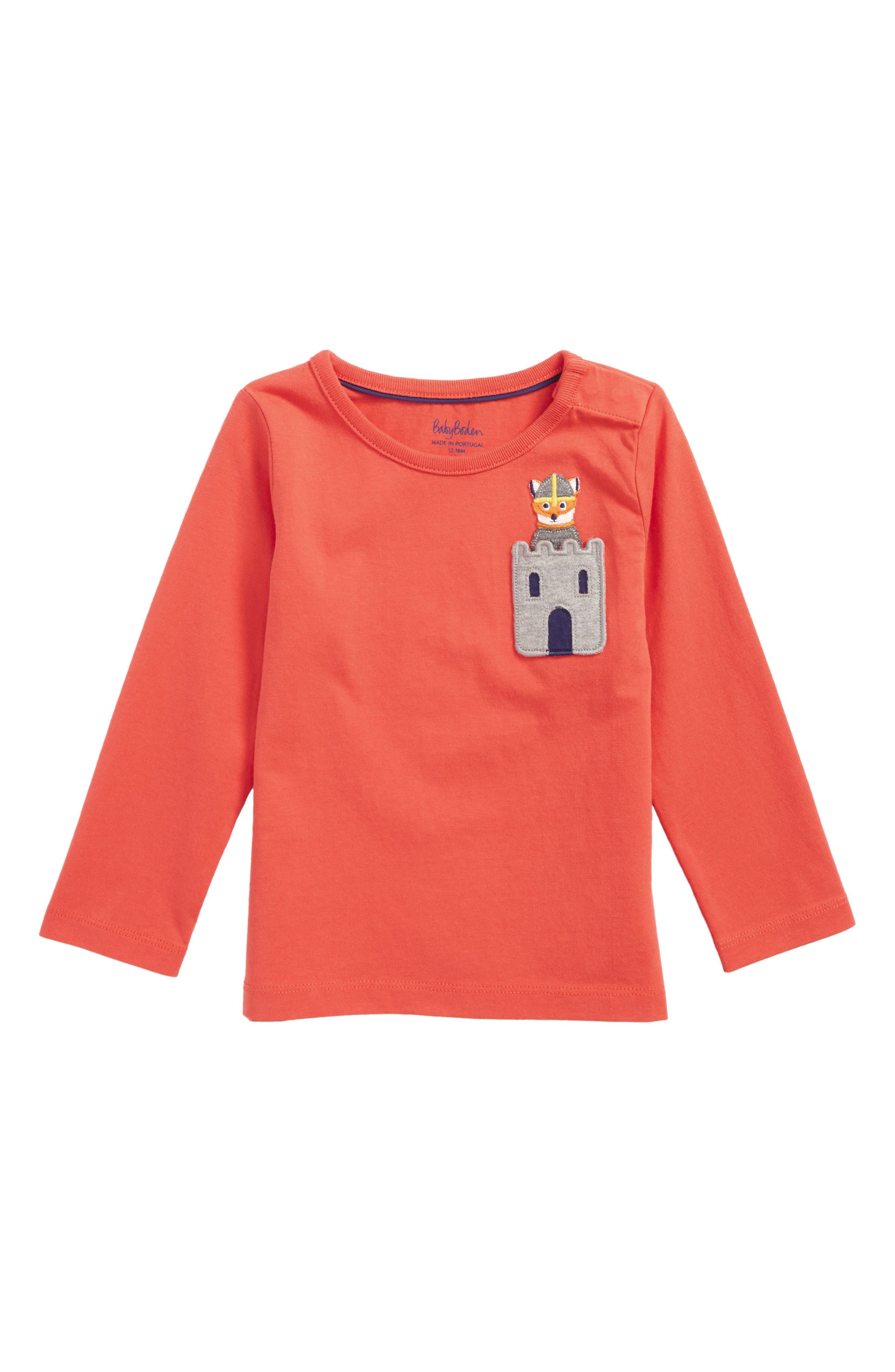Mini Boden Adventure Pocket T-Shirt (Baby Boys & Toddler Boys)
