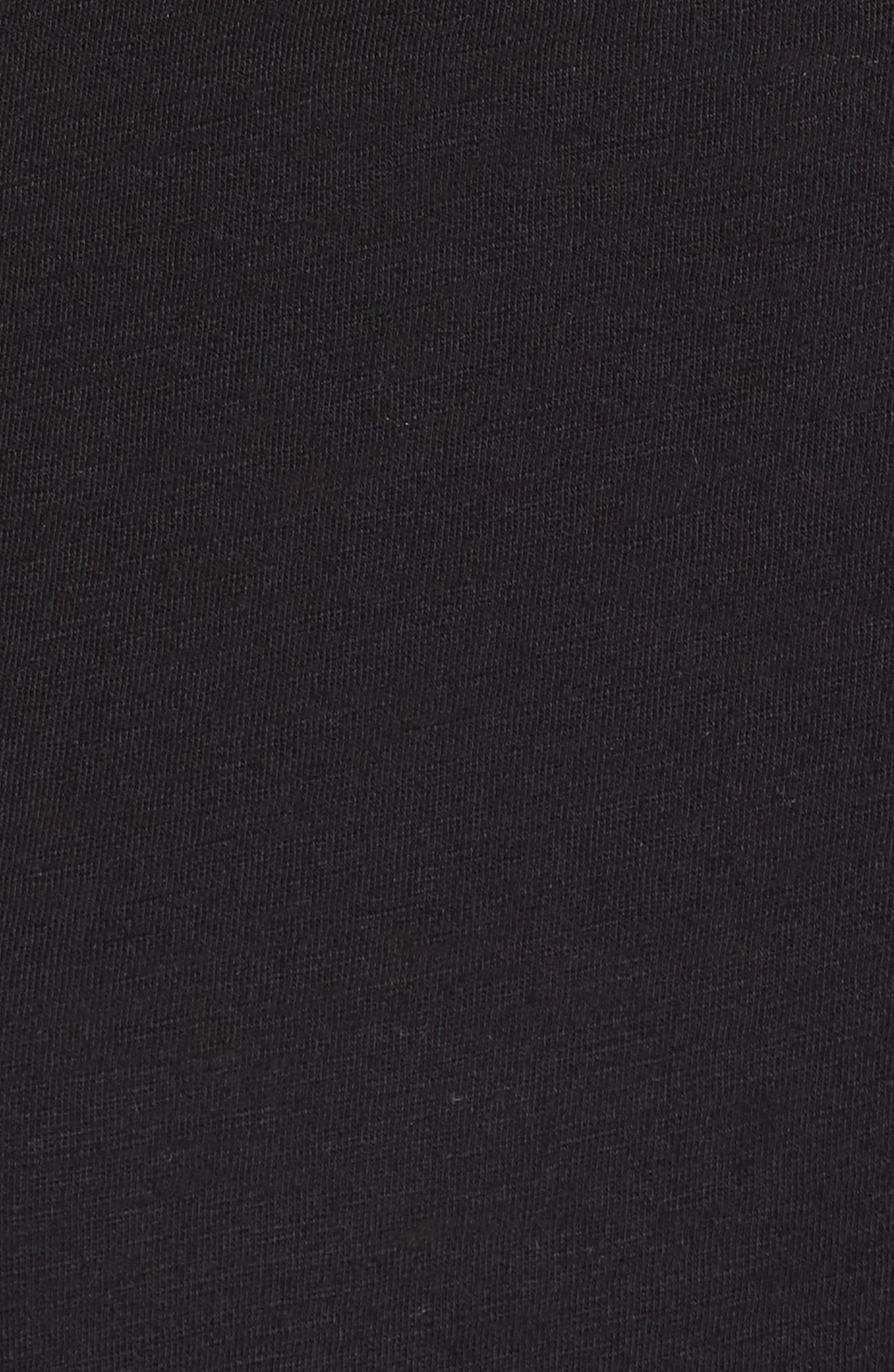 One-Shoulder Tie Tee,                             Alternate thumbnail 5, color,                             Black
