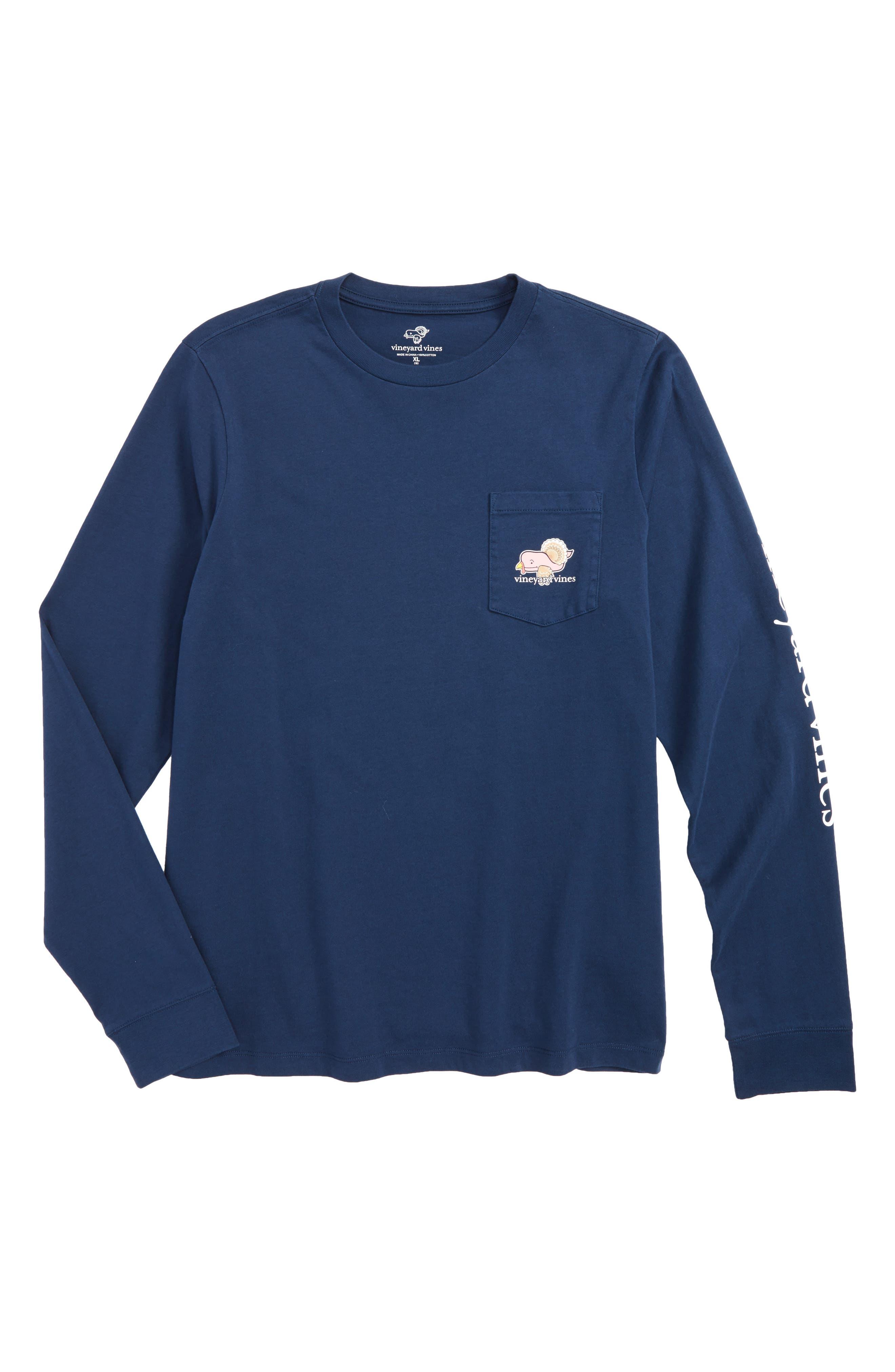 Turkey Whale Pocket T-Shirt,                         Main,                         color, Blue Blazer