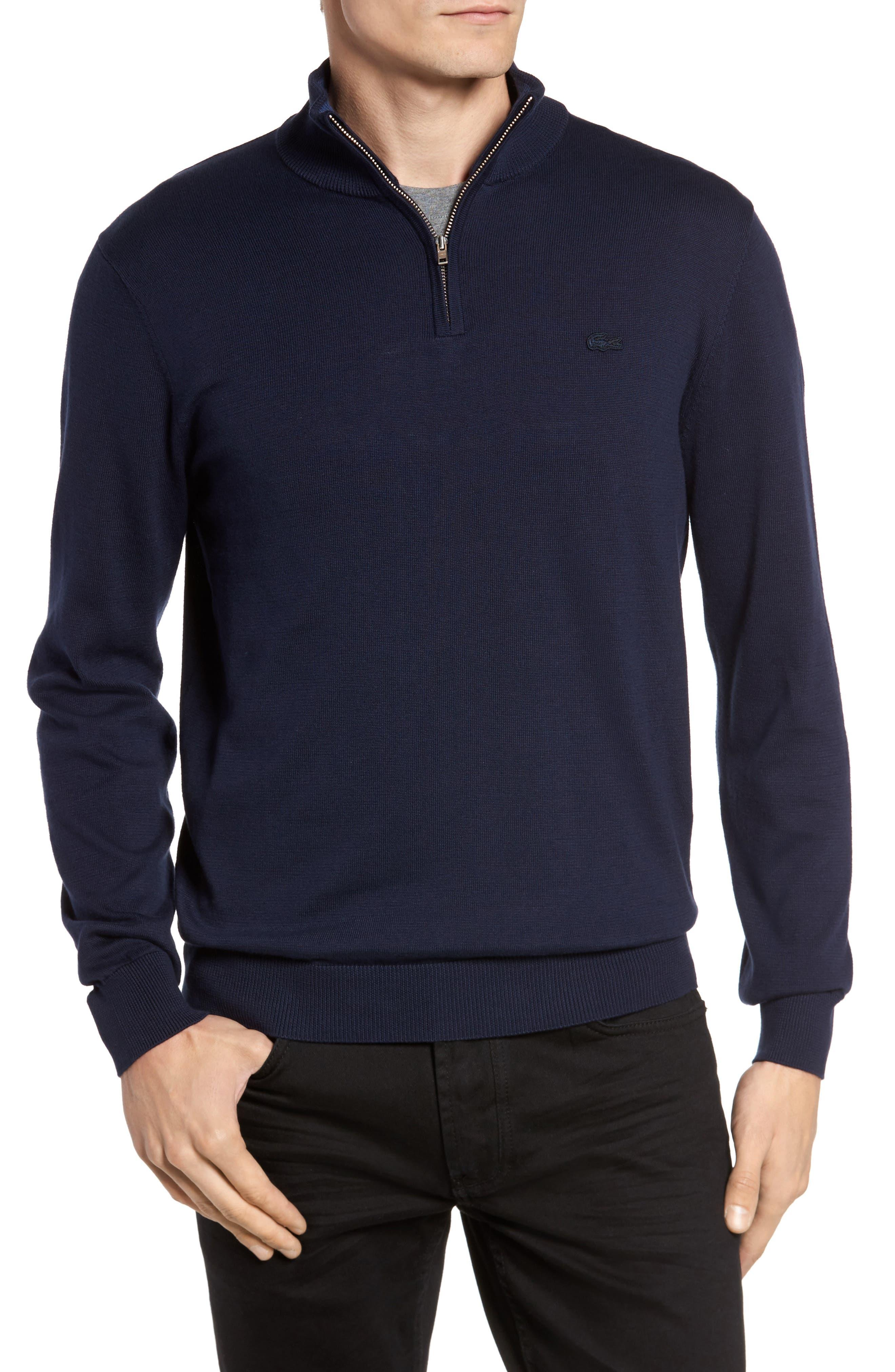 Alternate Image 1 Selected - Lacoste Quarter Zip Sweater