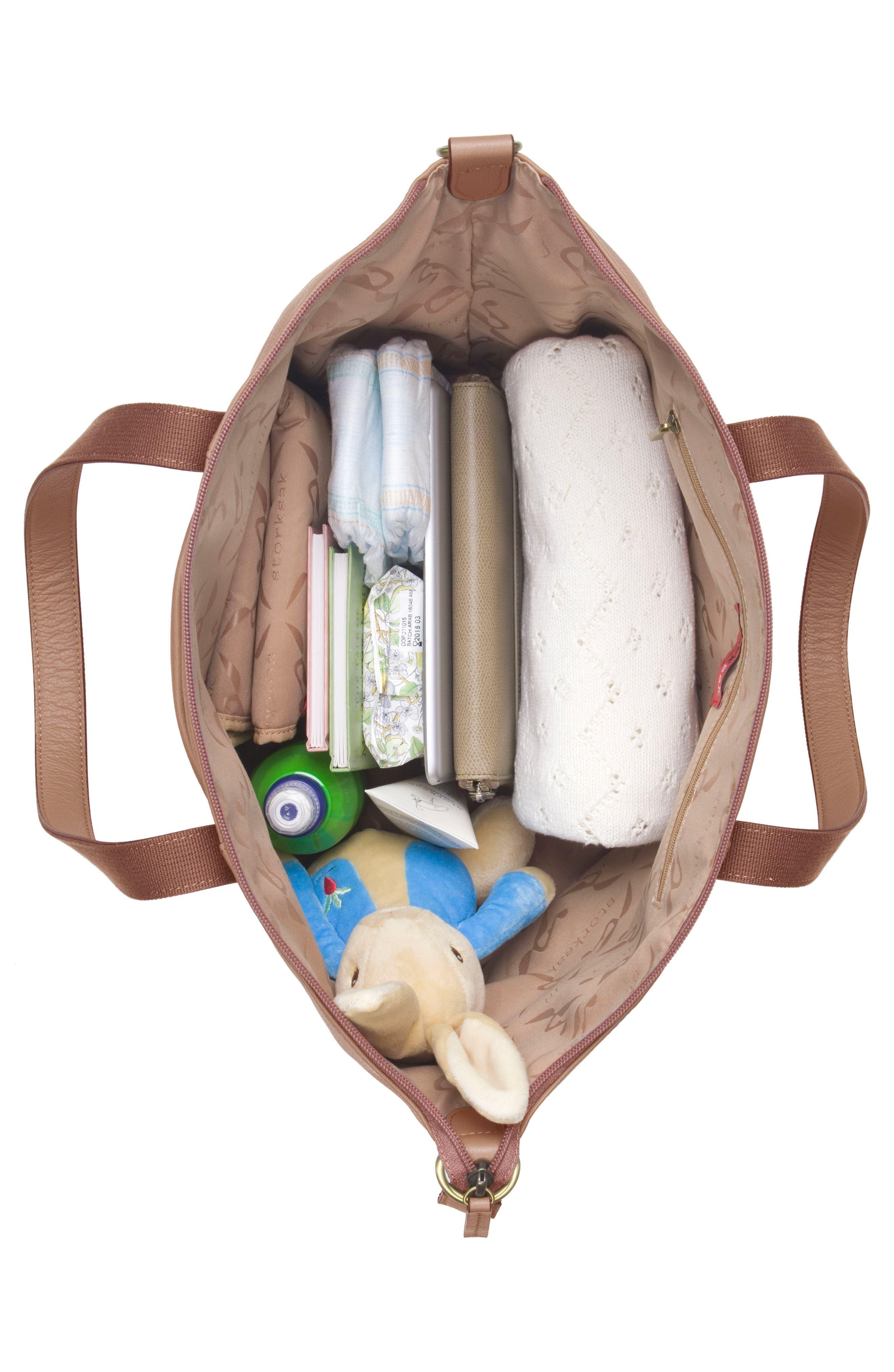 Alternate Image 4  - Storksak NOA Leather Diaper Bag