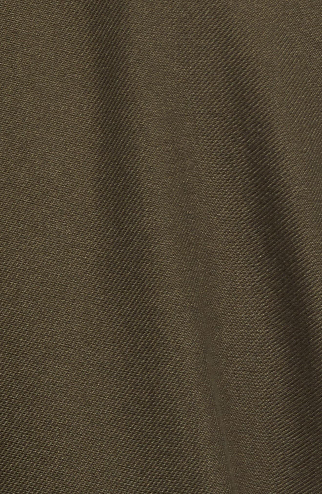 Alaskan Guide Regular Fit Twill Shirt,                             Alternate thumbnail 5, color,                             Brunswick Green