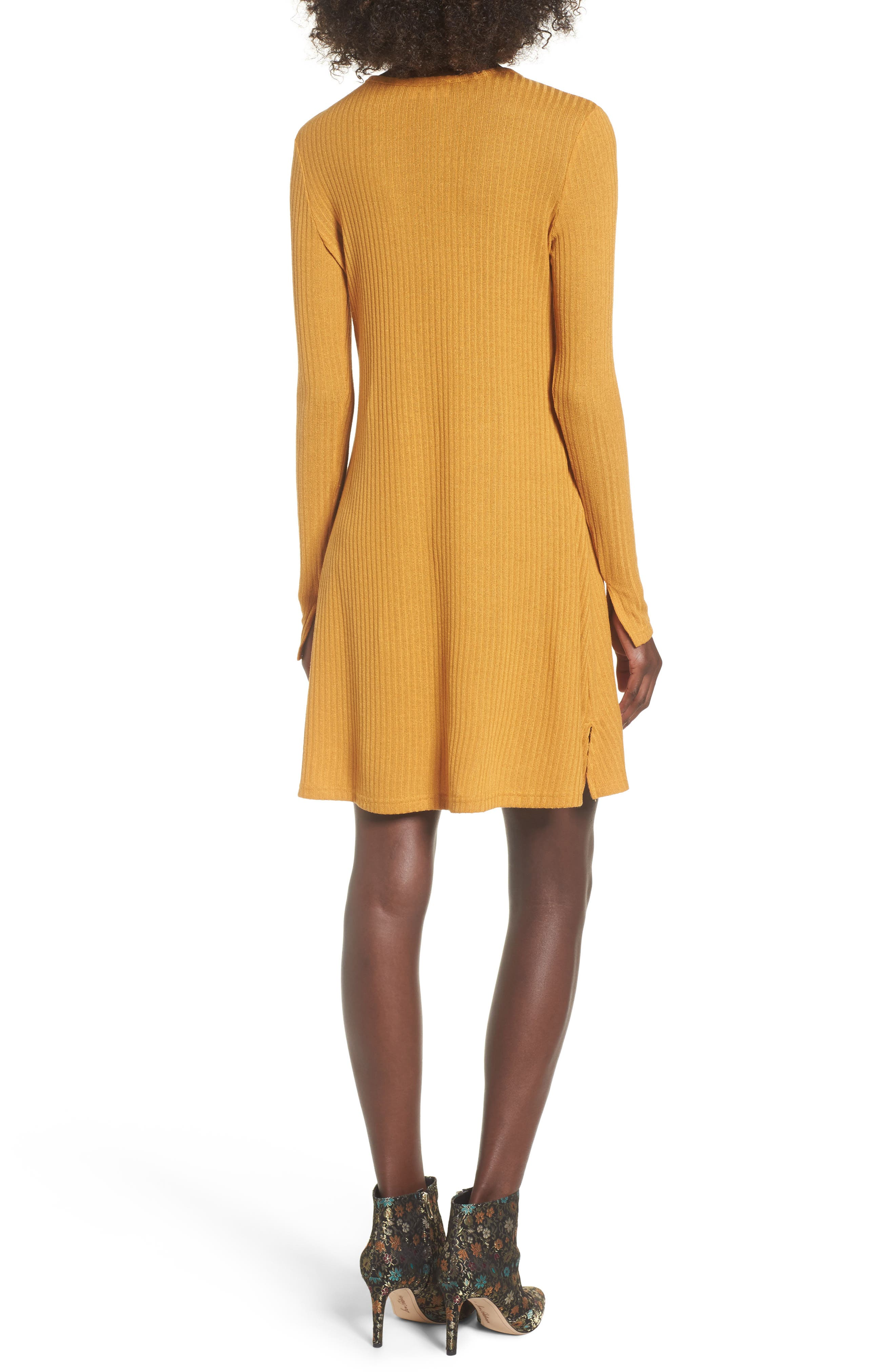 Maven Thermal Dress,                             Alternate thumbnail 2, color,                             Mustard
