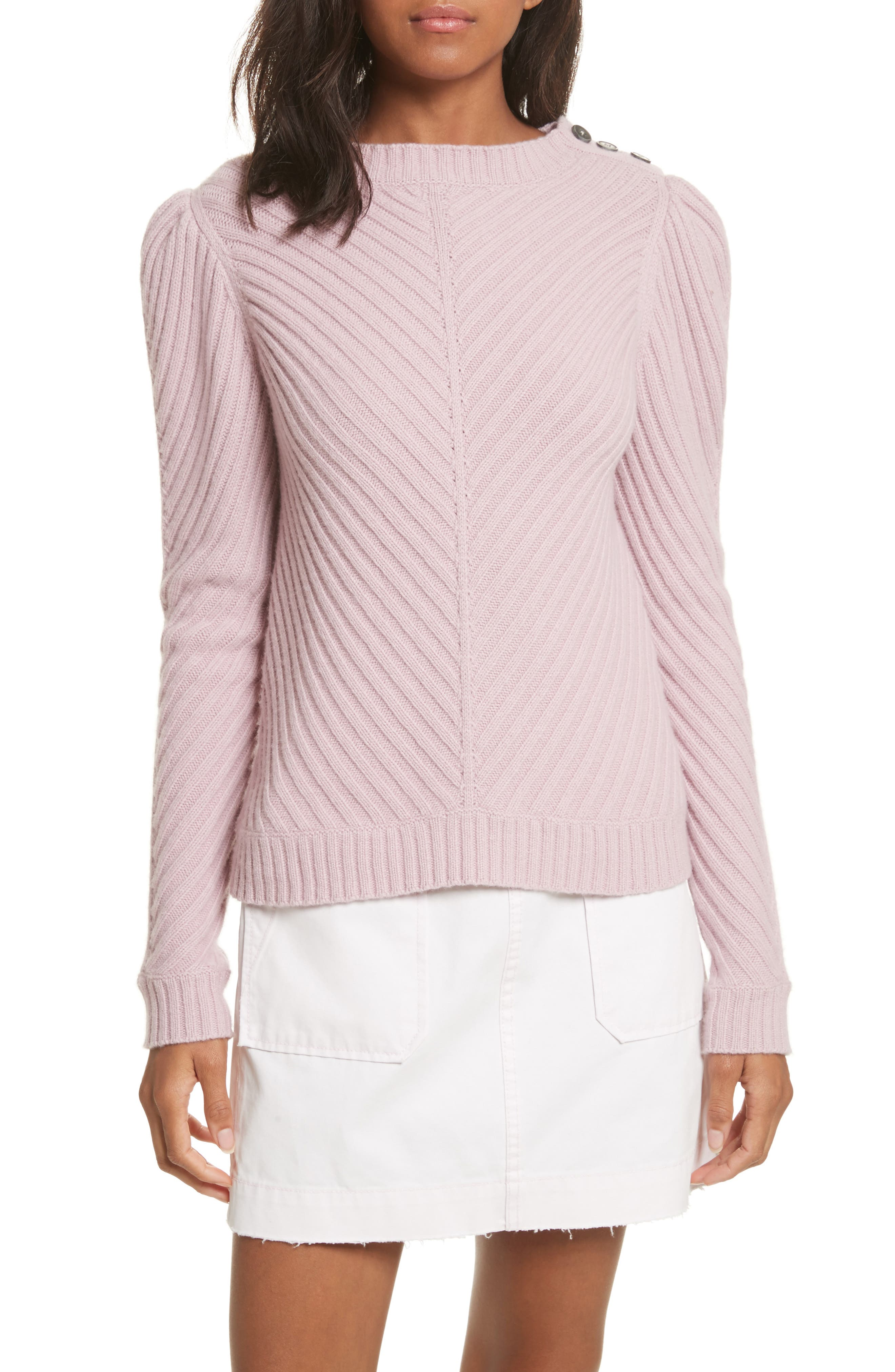 Ribbed Knit Pullover,                         Main,                         color, Mauve