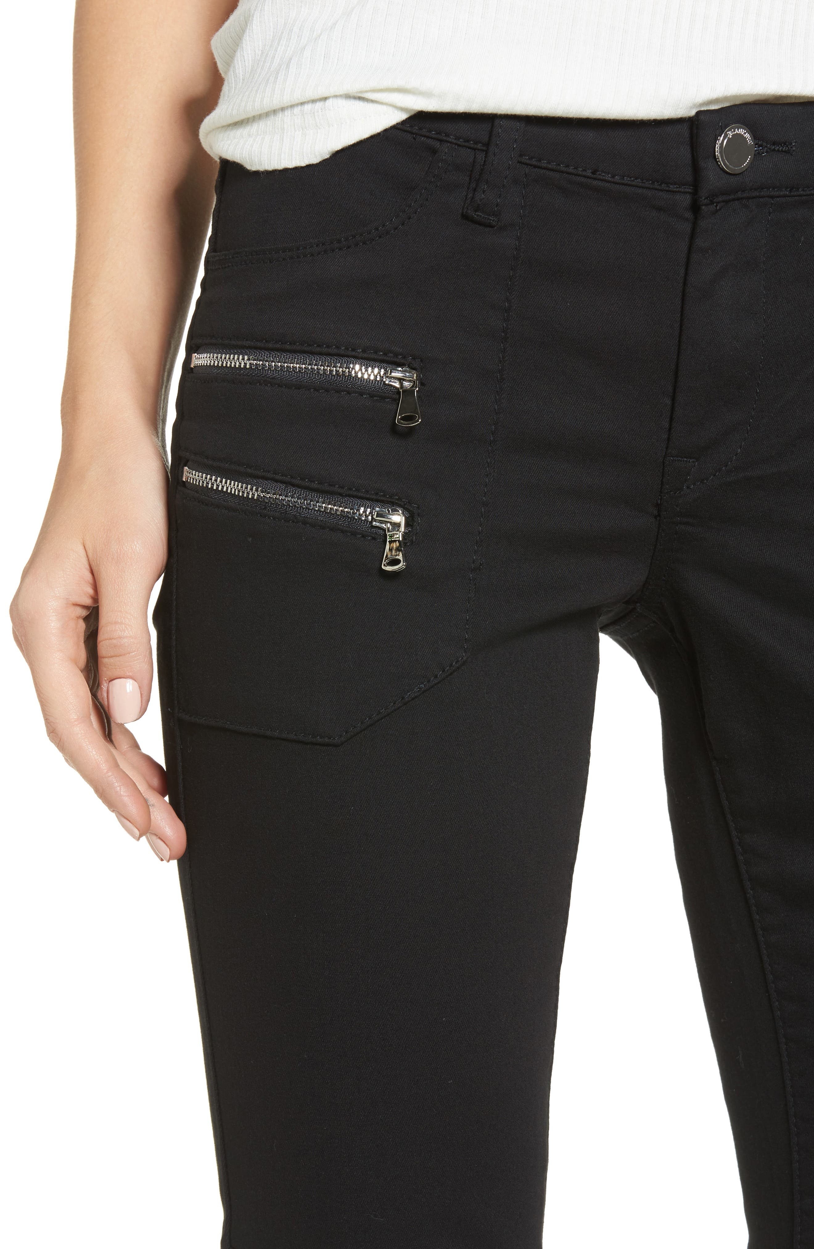 Private Party Skinny Jeans,                             Alternate thumbnail 4, color,                             Black