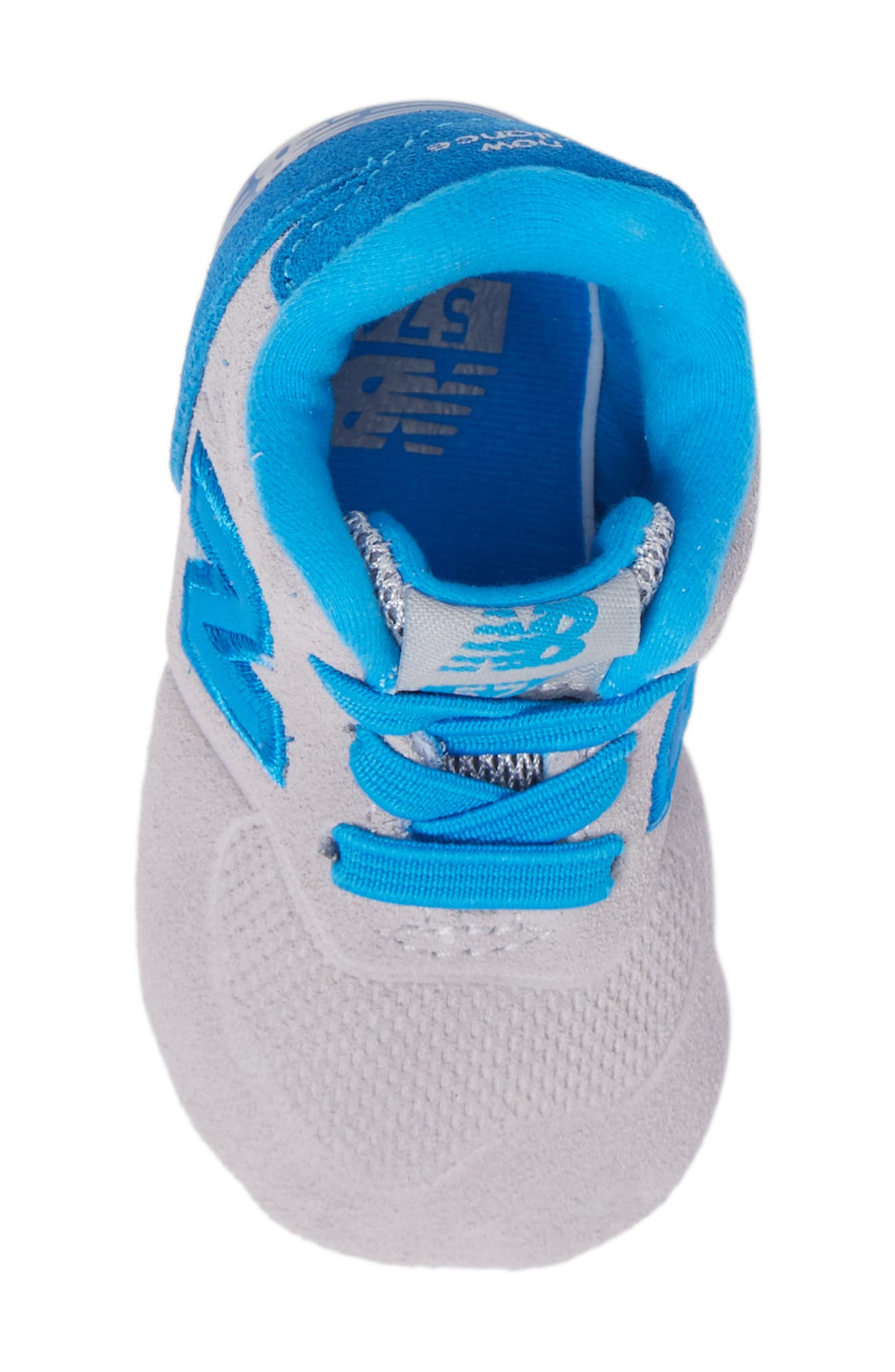 547 Crib Shoe,                             Alternate thumbnail 5, color,                             Blue/ Grey