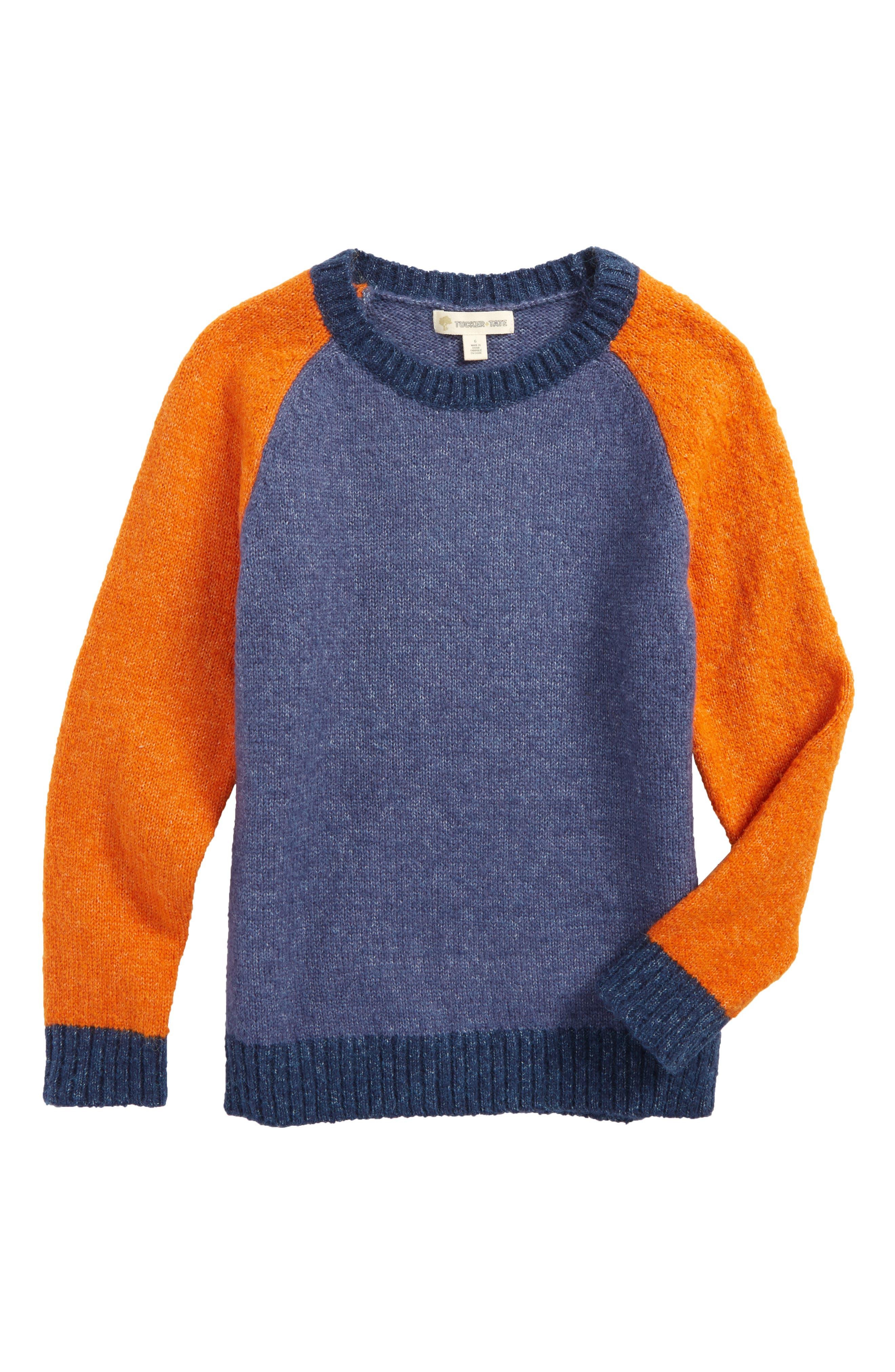 Colorblock Sweater,                         Main,                         color, Blue Vintage Multi