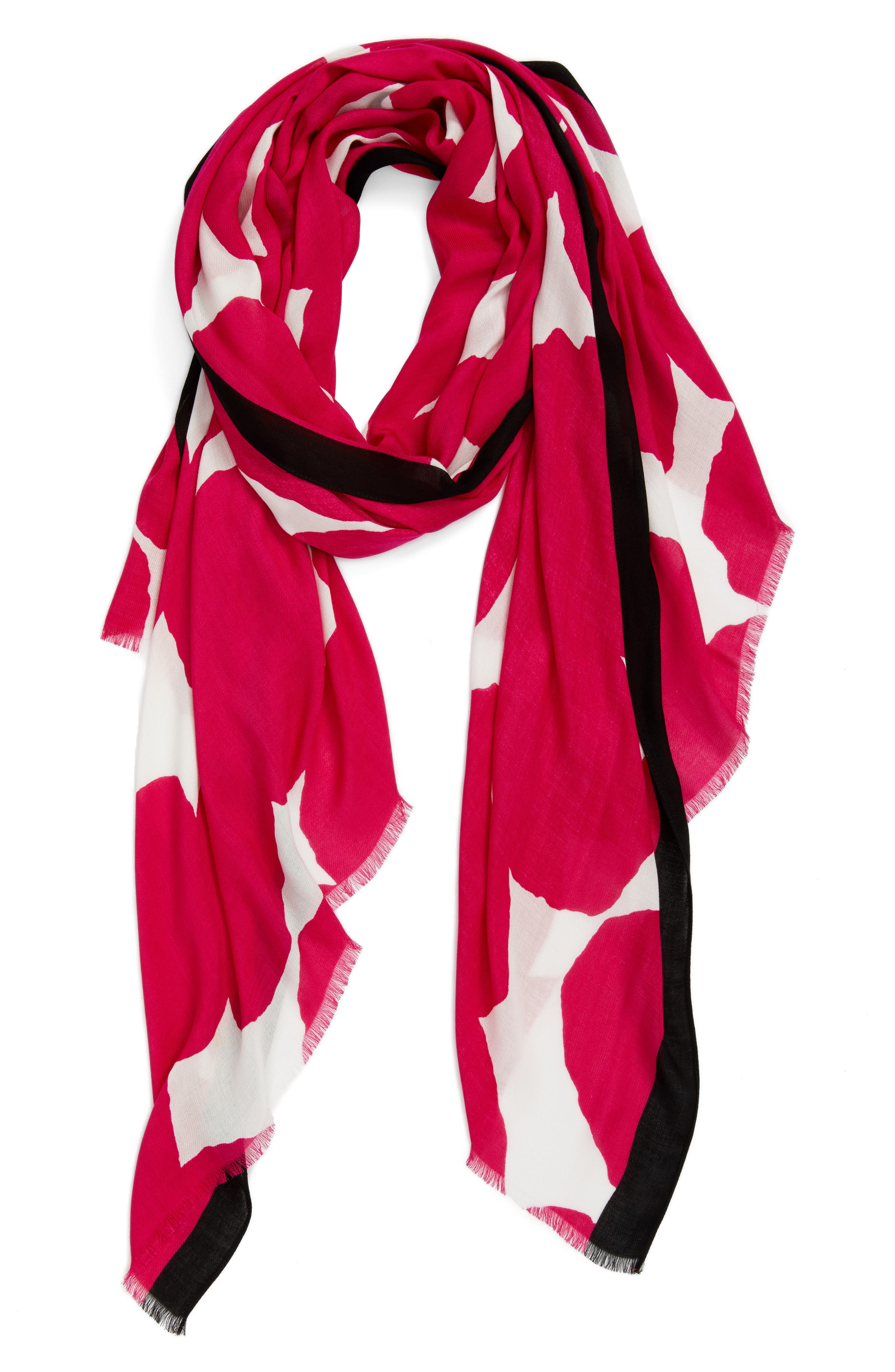 large dot oblong scarf,                             Alternate thumbnail 2, color,                             Cabaret Pink