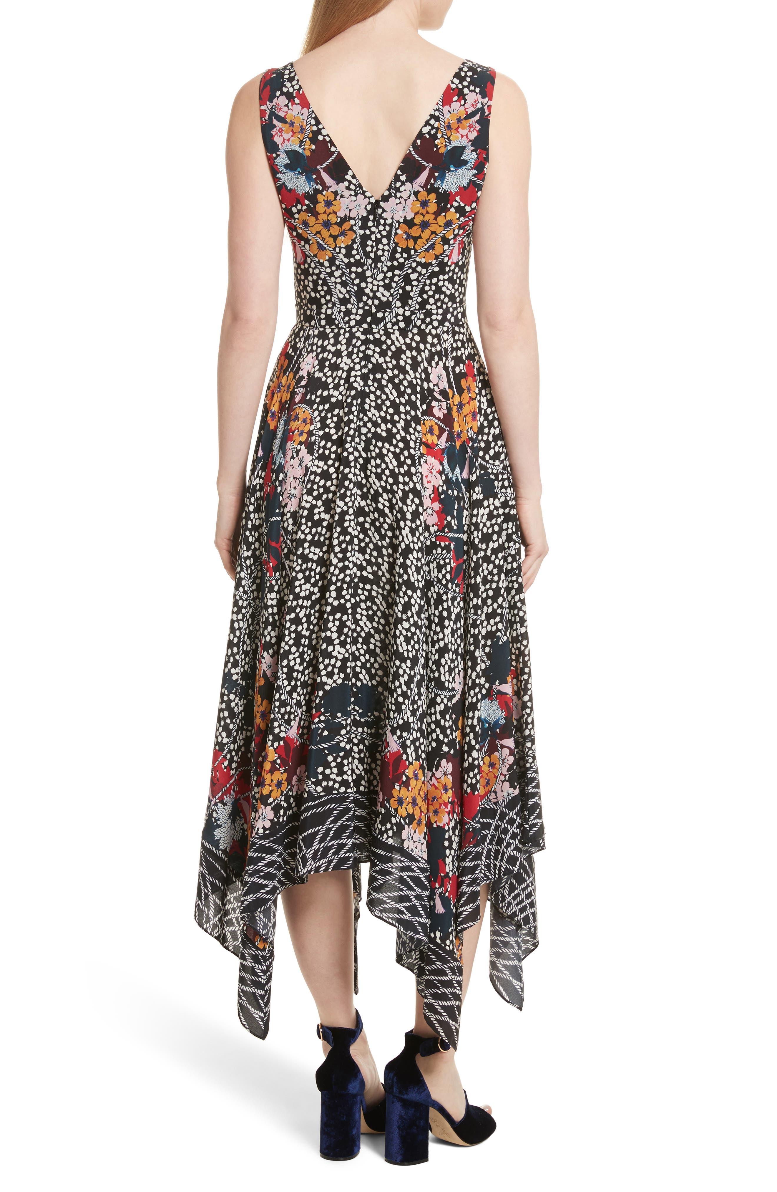 Alternate Image 2  - SALONI Zuri Floral Print Dress