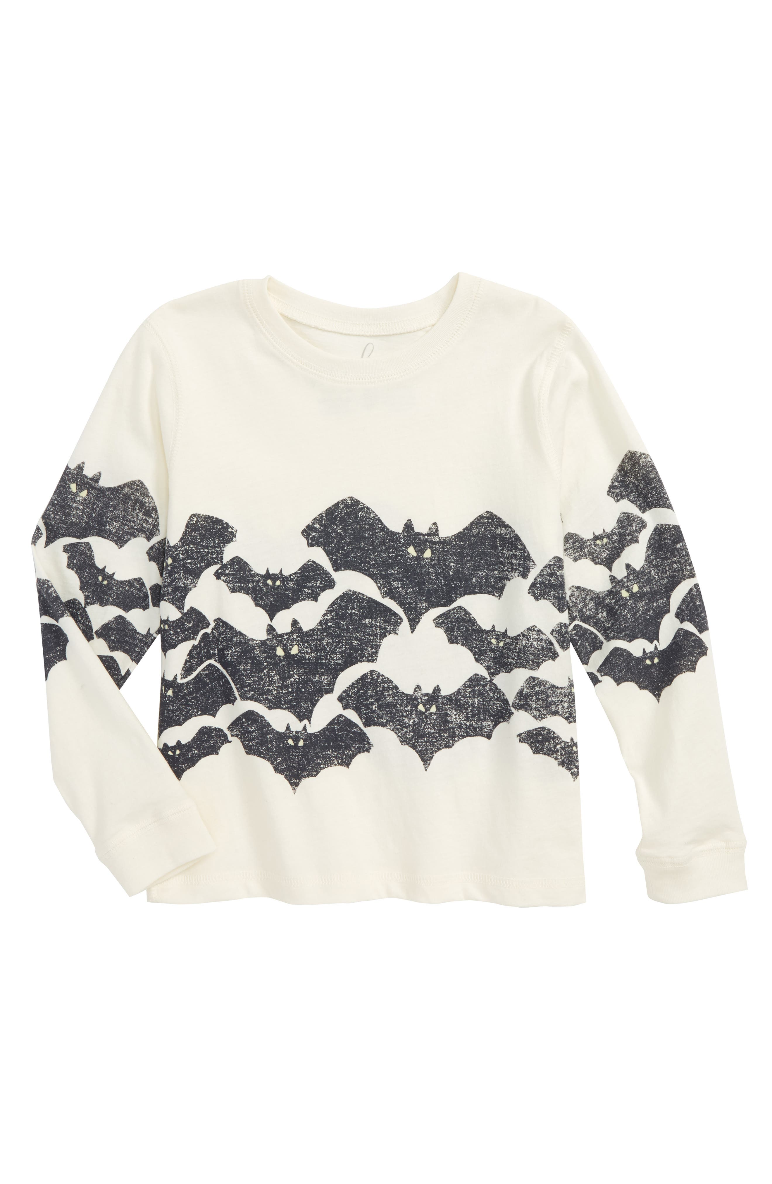 Bats Glow in the Dark T-Shirt,                         Main,                         color, Ivory